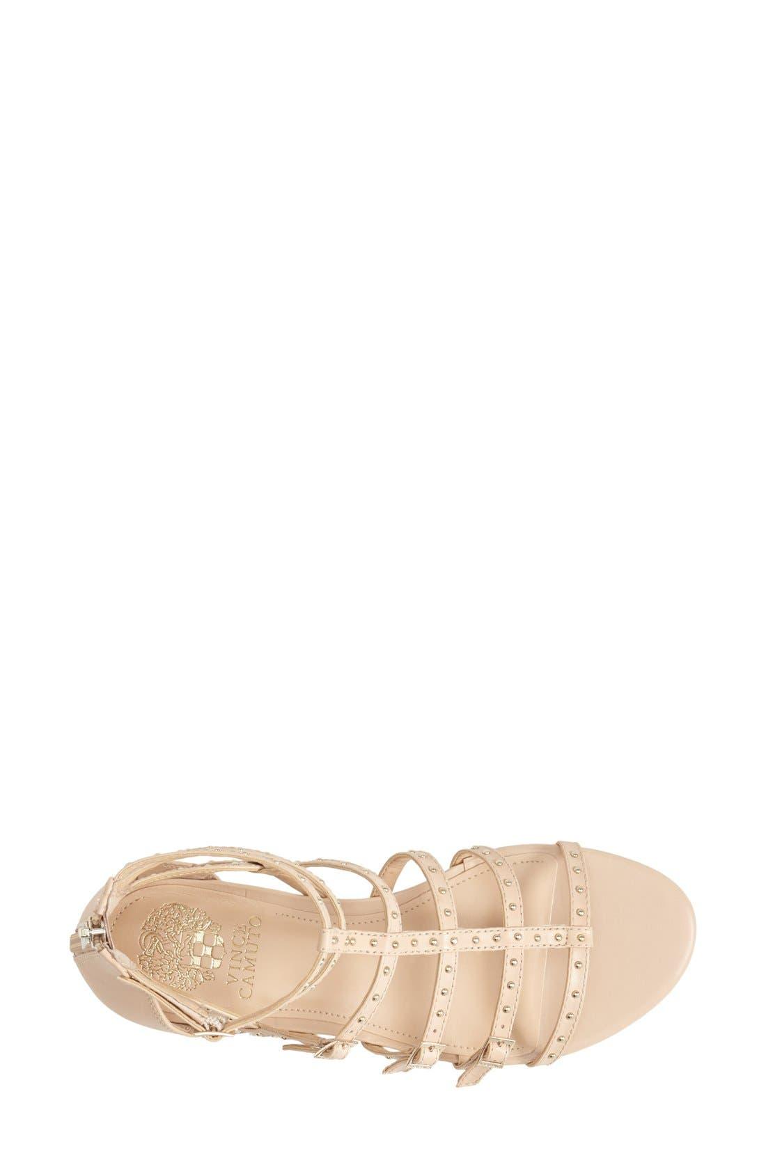 Alternate Image 3  - Vince Camuto 'Hevelli' Studded Leather Gladiator Sandal (Women)