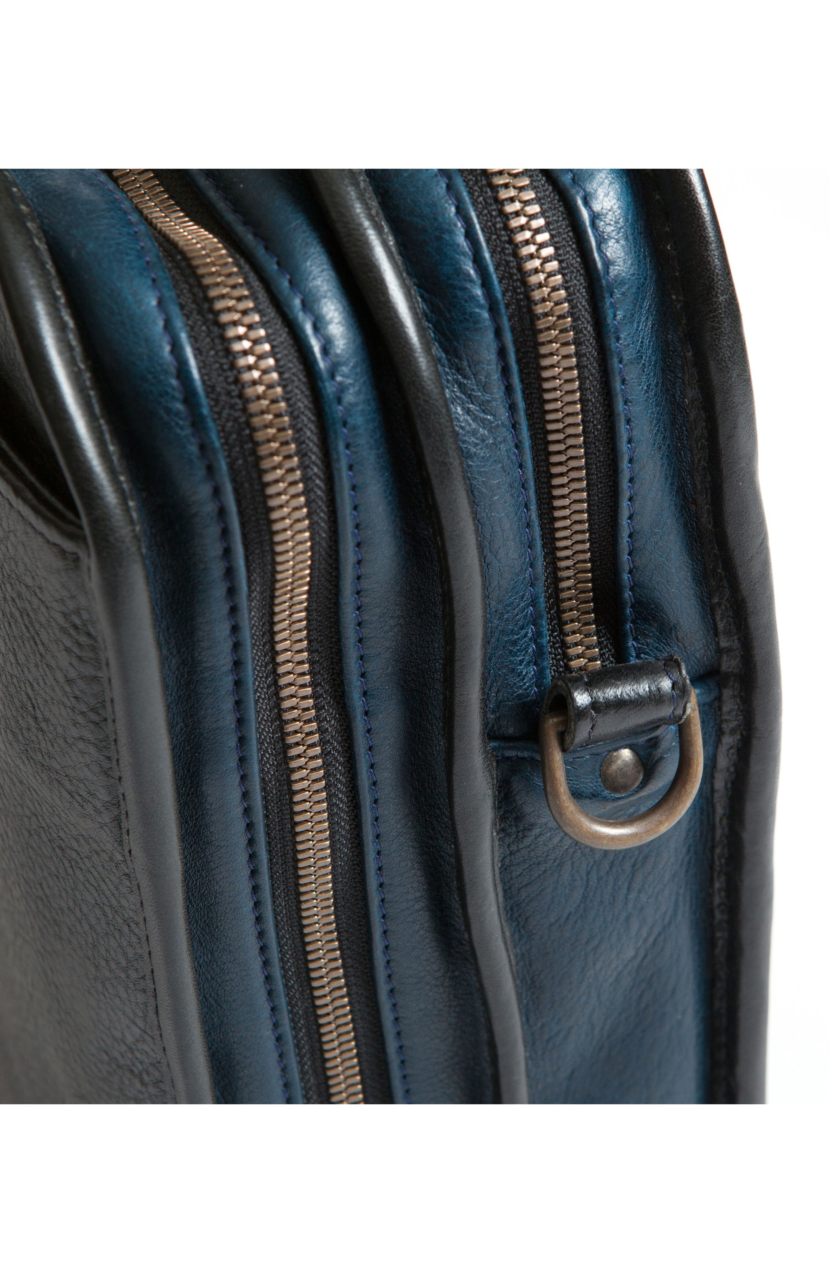 Miller Leather Briefcase,                             Alternate thumbnail 9, color,                             Titan Milled Navy And Gunmetal