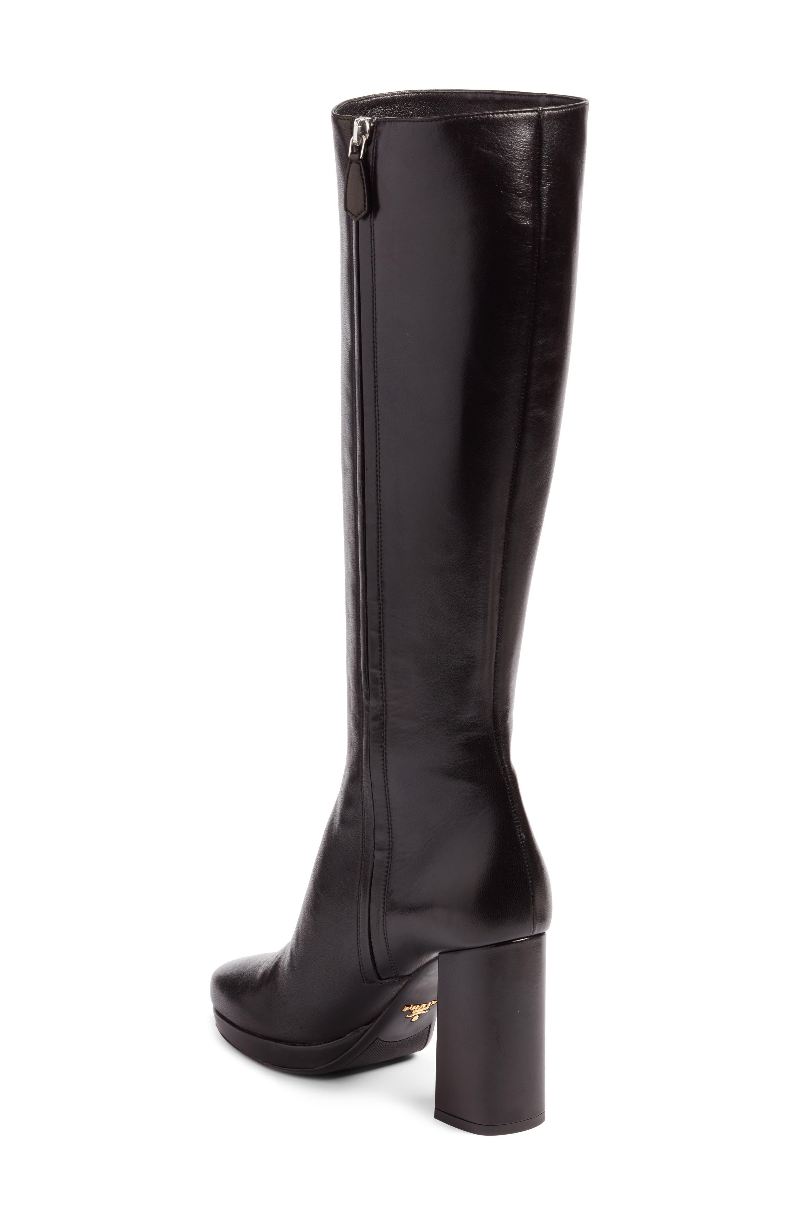 Alternate Image 2  - Prada Block Heel Tall Boot (Women)