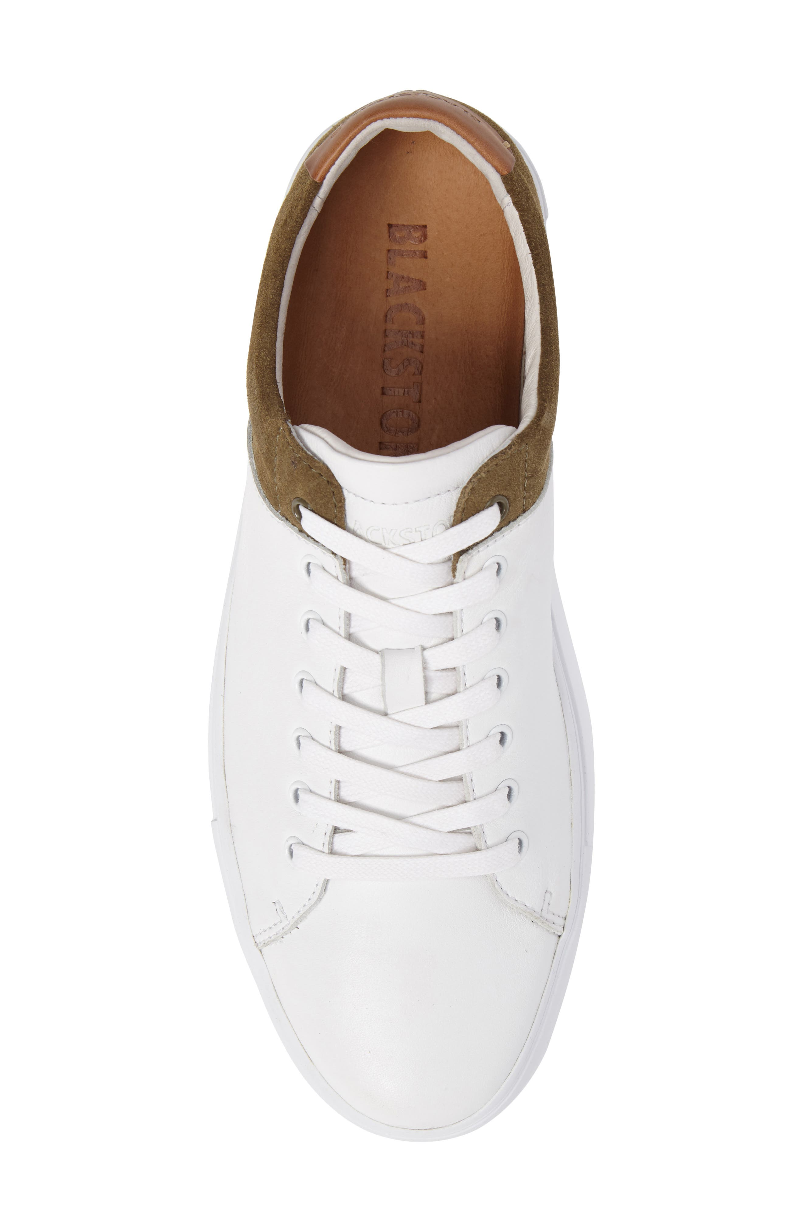 NM03 Two-Tone Sneaker,                             Alternate thumbnail 5, color,                             White/ Olive Leather