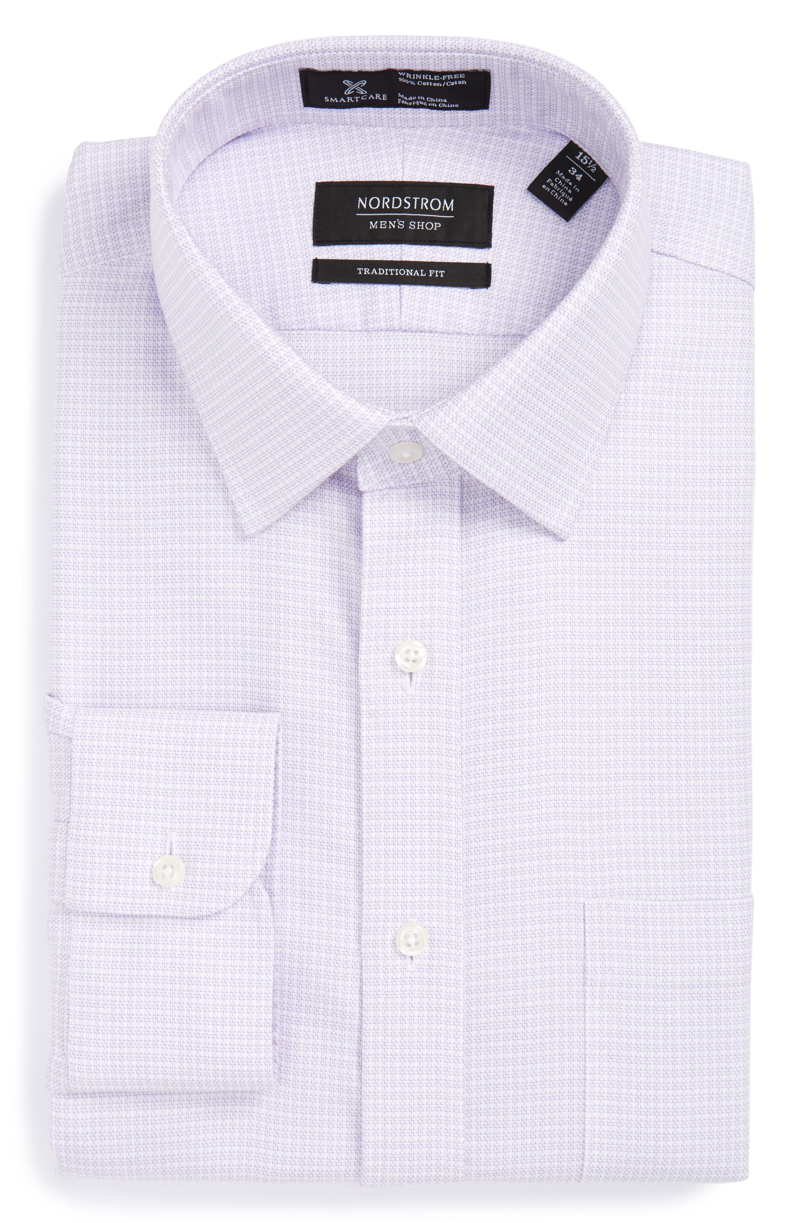 NORDSTROM MENS SHOP Smartcare<sup>™</sup> Traditional Fit Dress Shirt