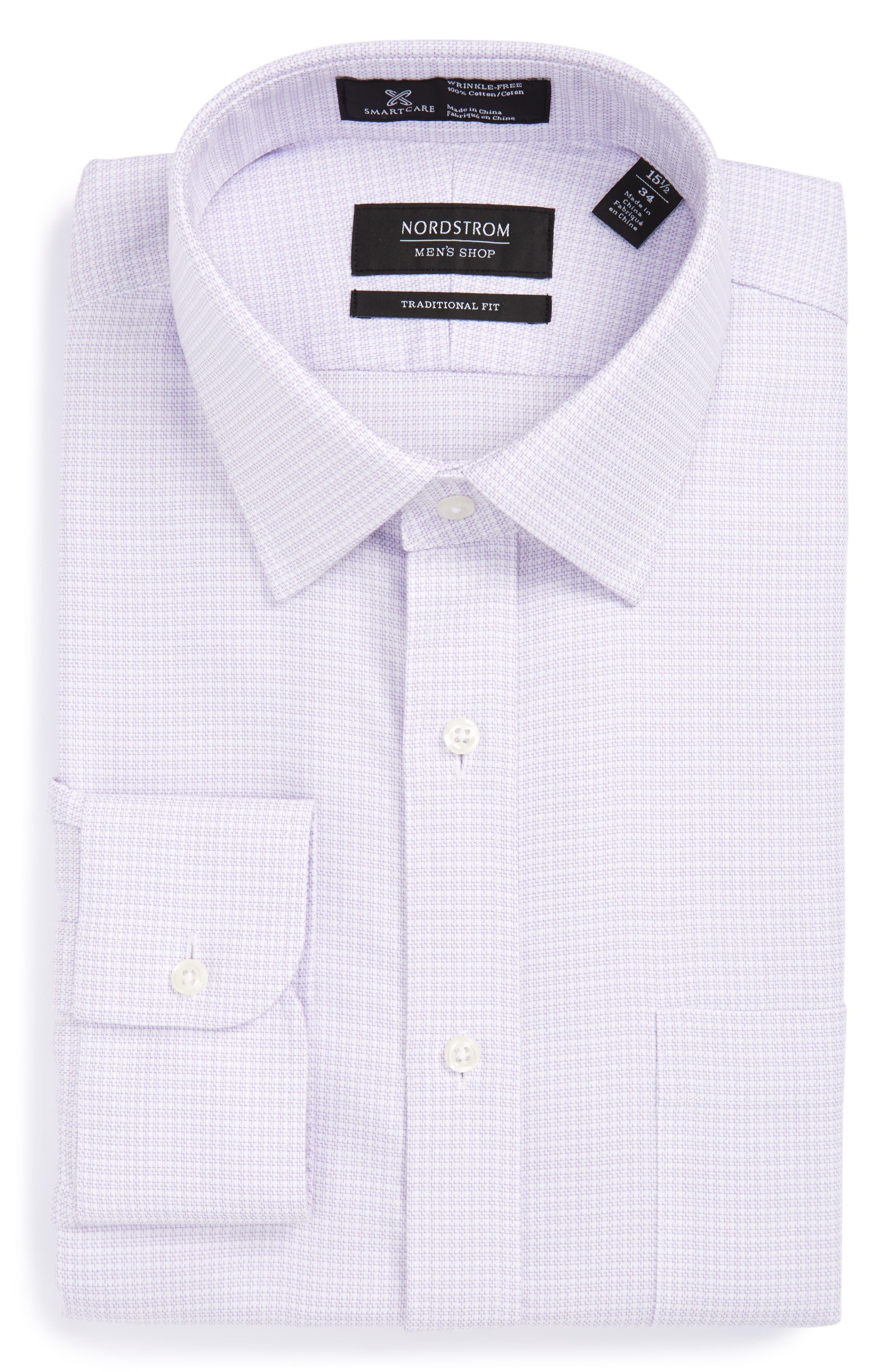 Smartcare<sup>™</sup> Traditional Fit Dress Shirt,                         Main,                         color, Purple Bonnet