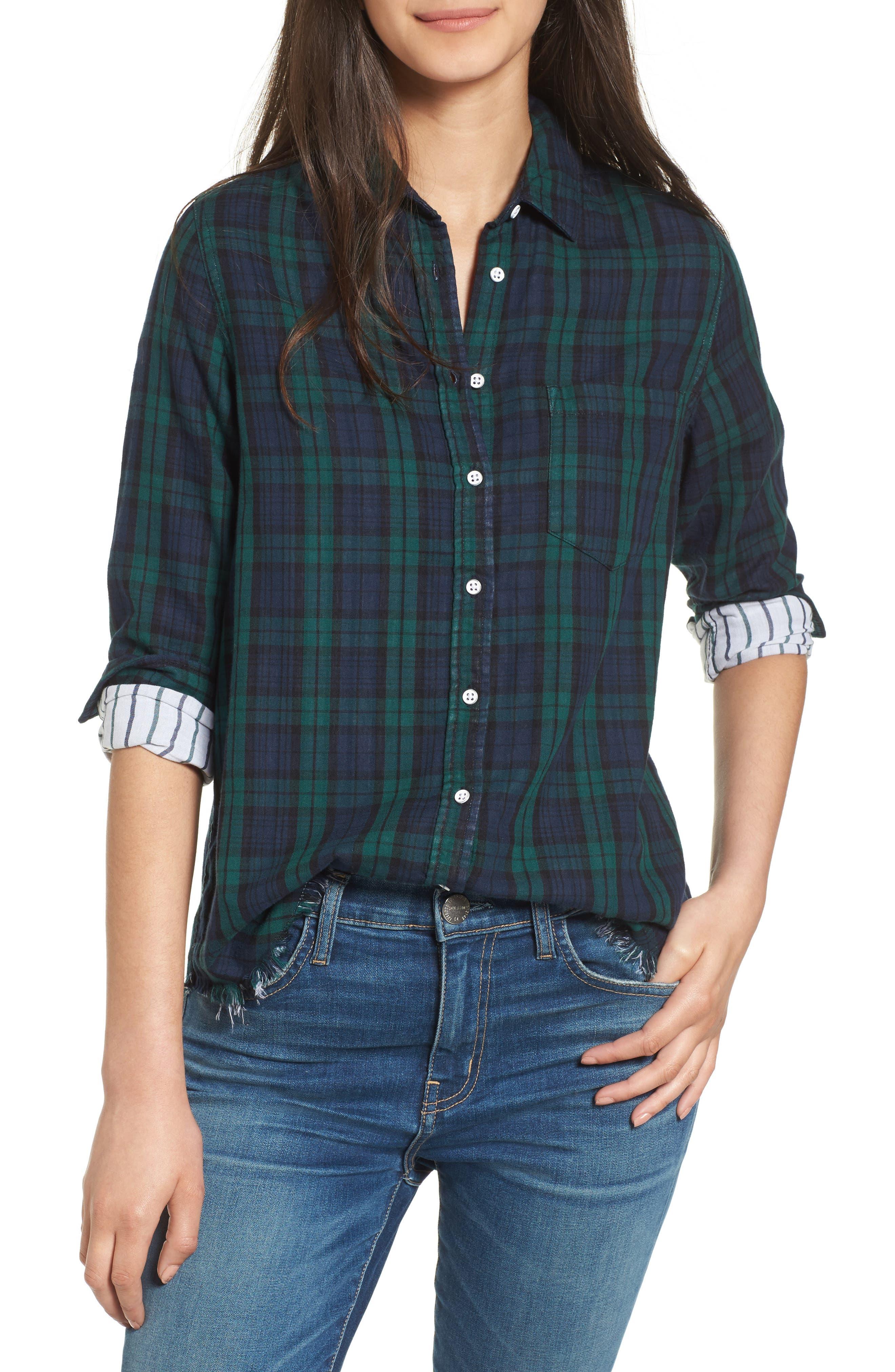 DL1961 Mercer & Spring Frayed Shirt