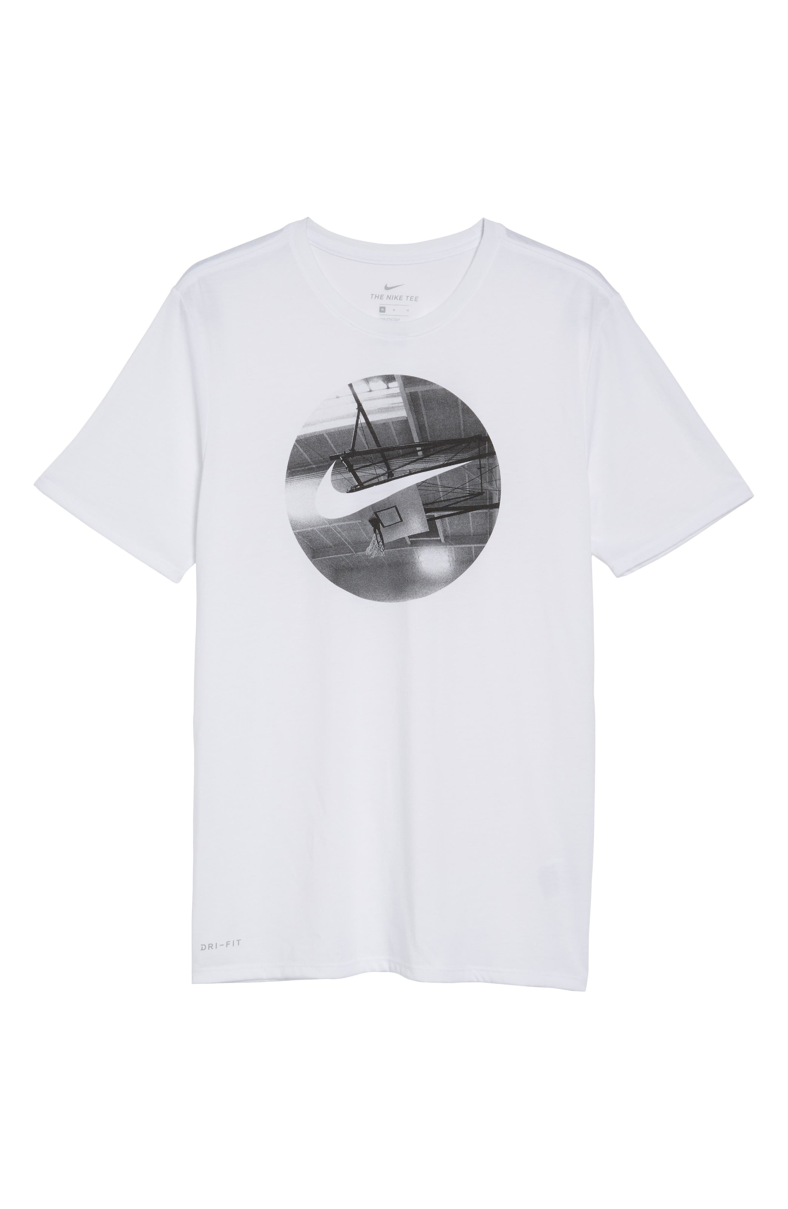 Photo Ball Graphic T-Shirt,                             Alternate thumbnail 5, color,                             White/ White