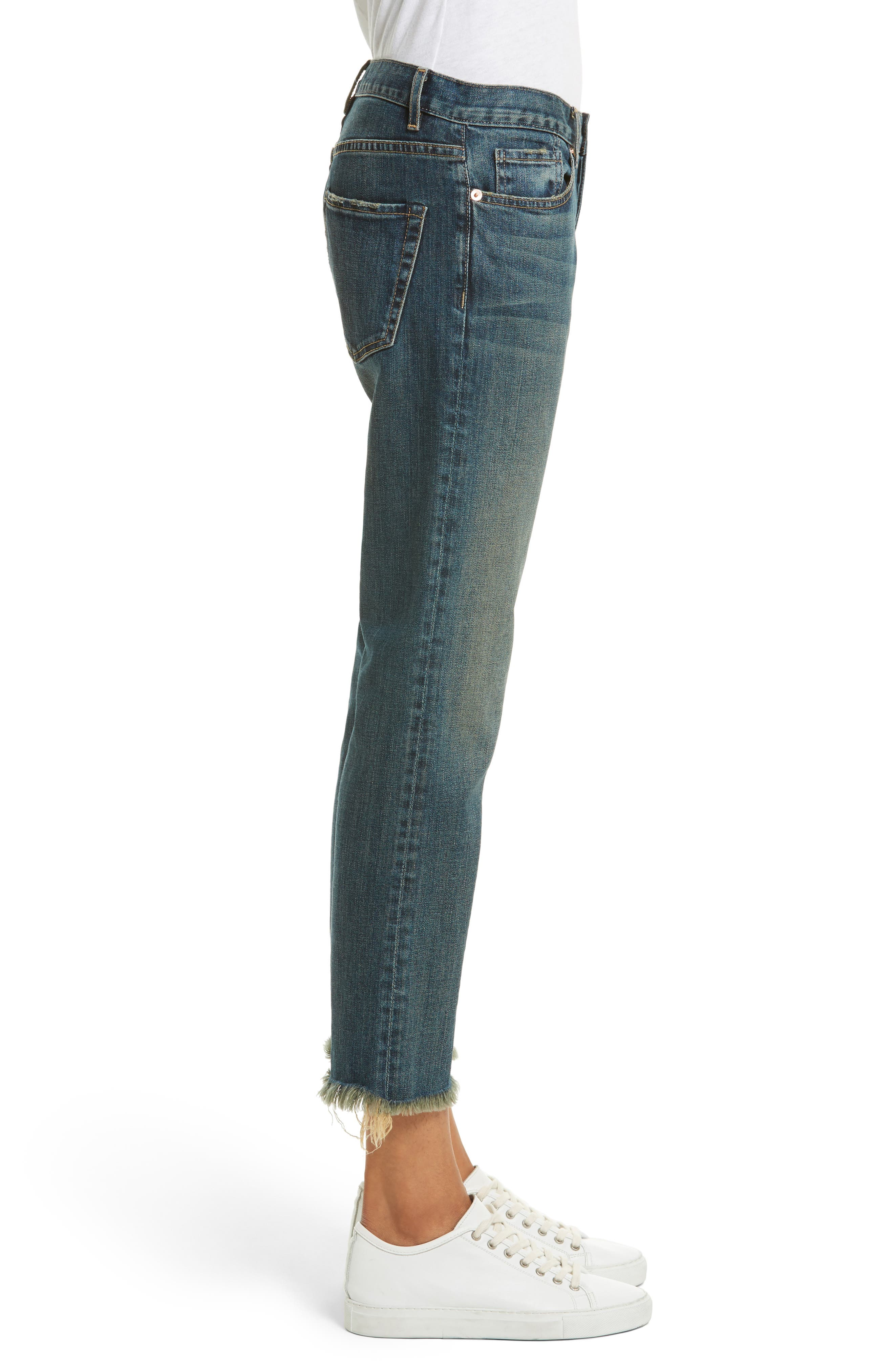 Alternate Image 3  - Nili Lotan Raw Edge Crop Boyfriend Jeans (Walker)