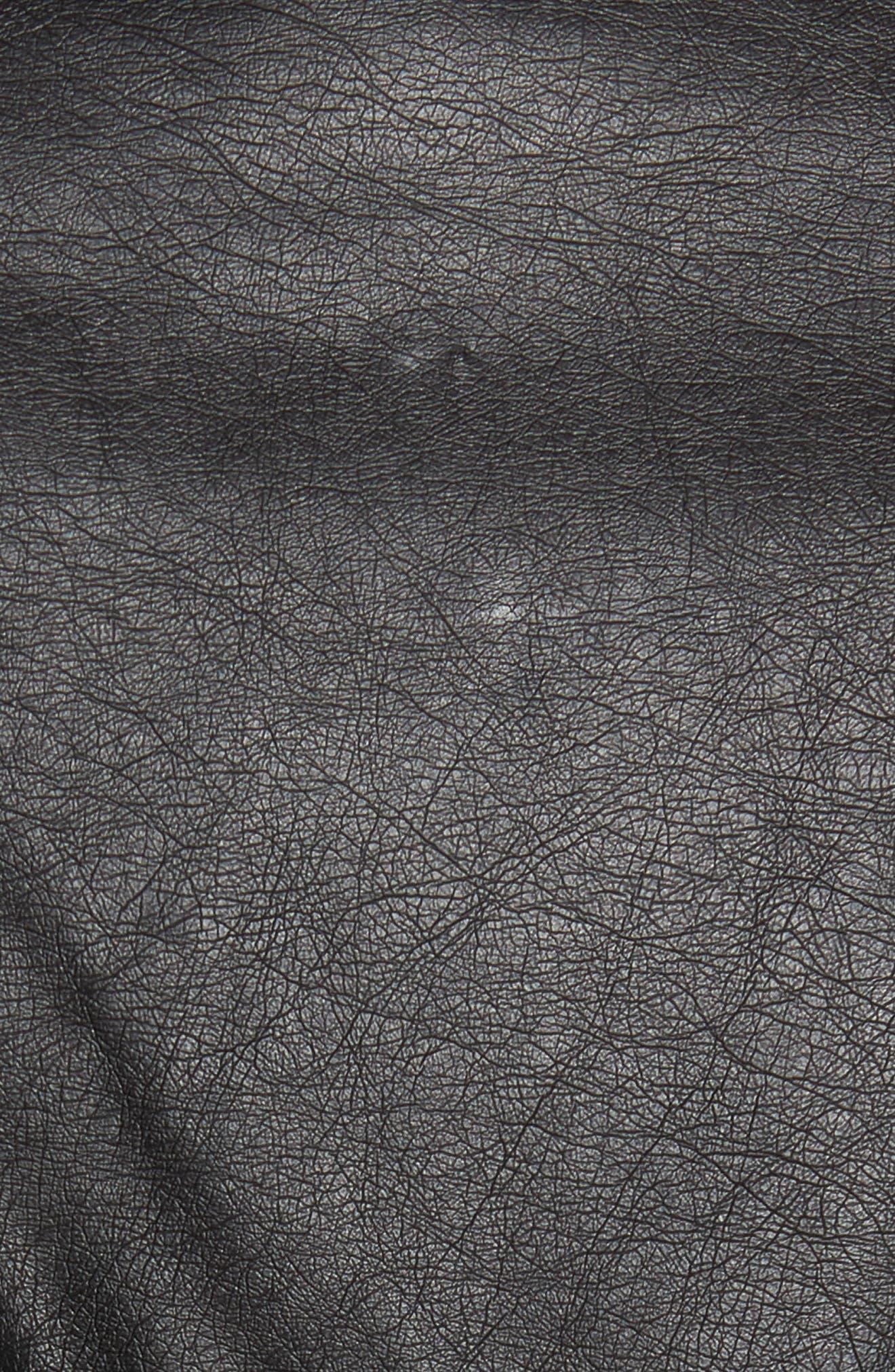 Alternate Image 5  - BB Dakota Jerilyn Studded Washed Faux Leather Jacket