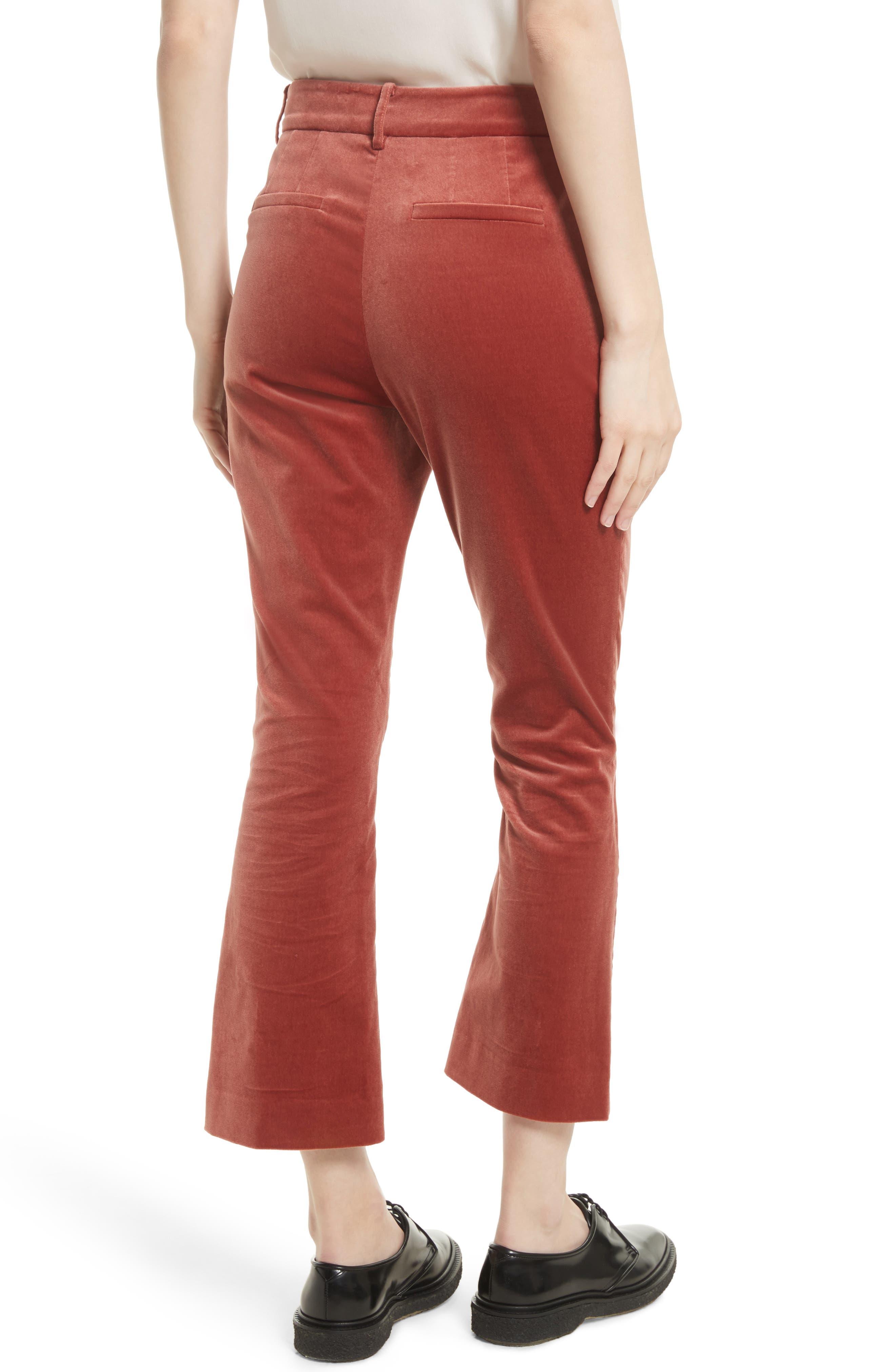 Alternate Image 3  - FRAME O-Ring Velvet Crop Flare Pants