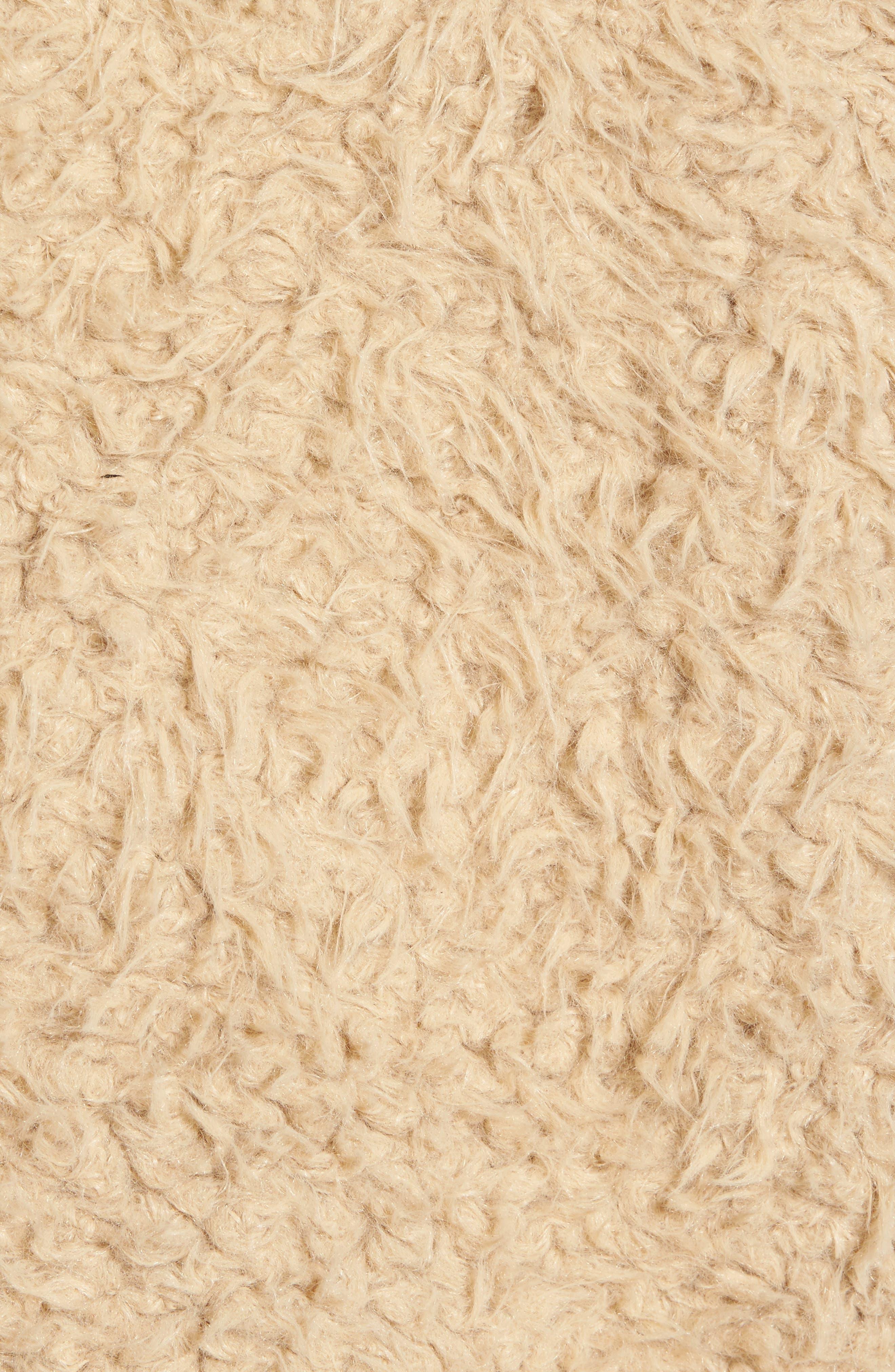 Macy Faux Fur Jacket,                             Alternate thumbnail 5, color,                             Light Camel