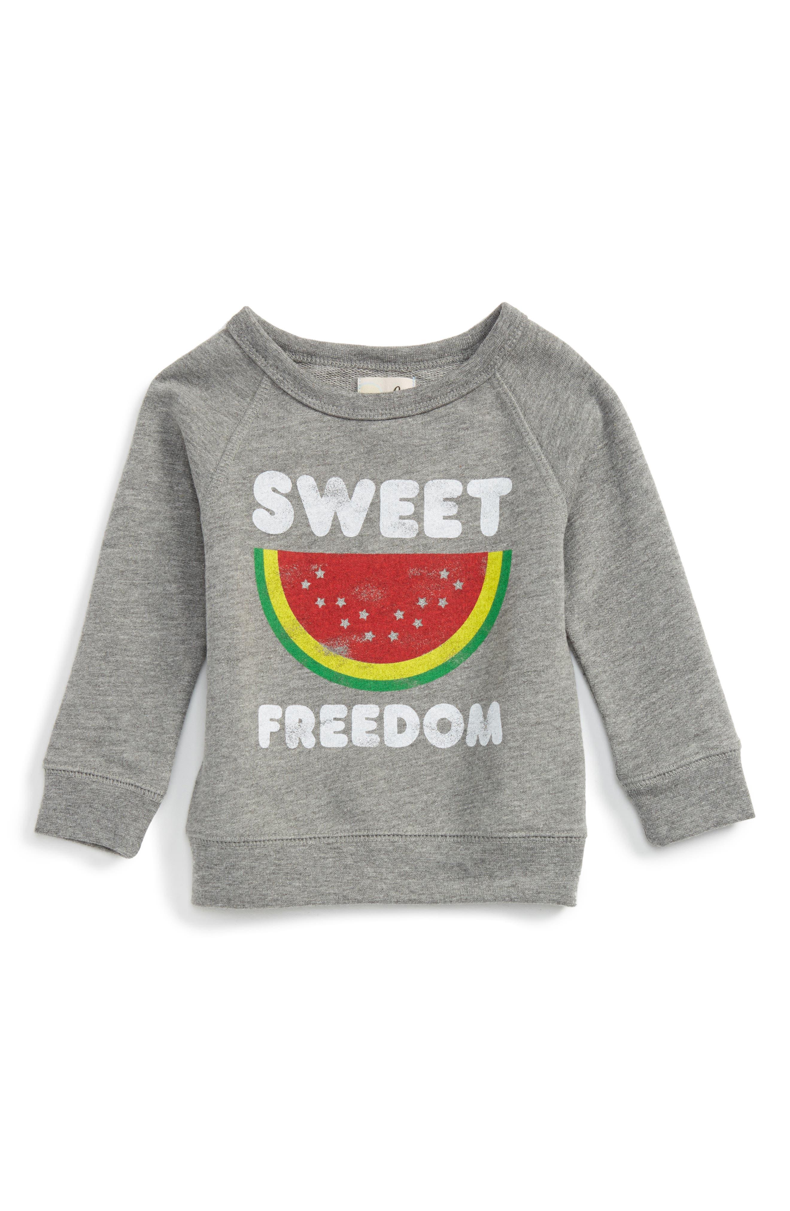 Alternate Image 1 Selected - Peek Sweet Freedom Sweatshirt (Baby)