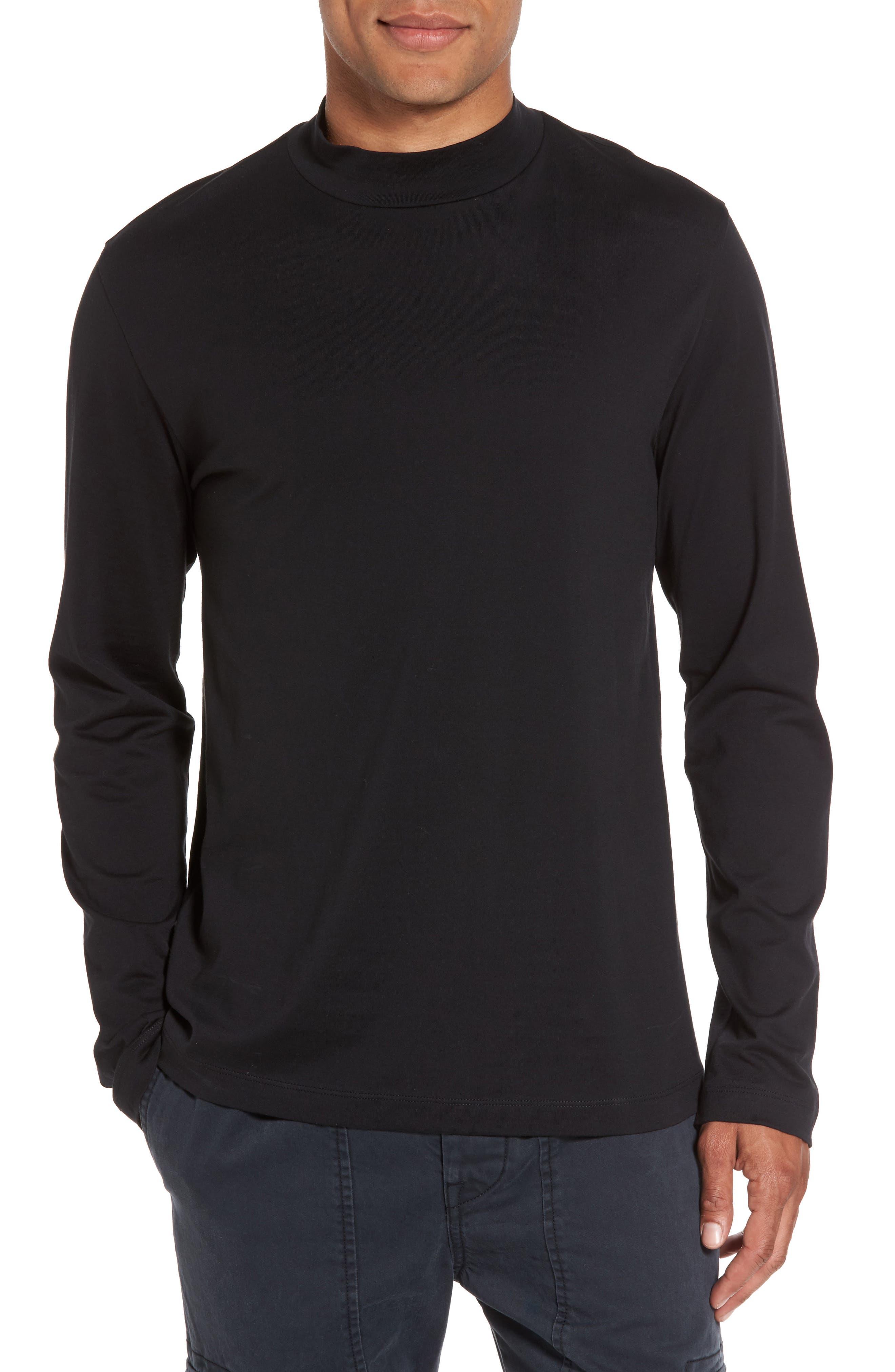 VINCE Mock Collar Pullover