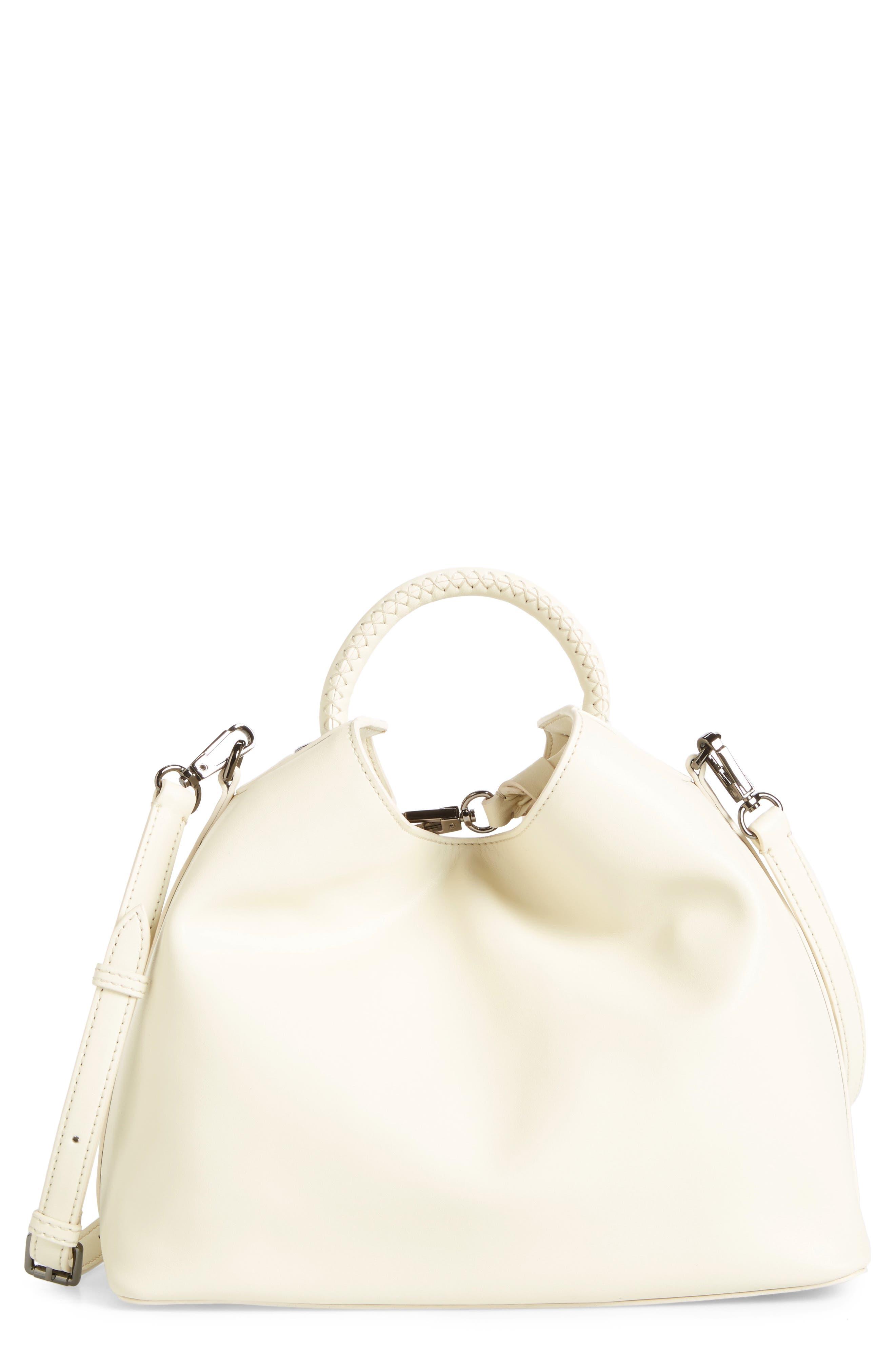 Elleme Raisin Leather Handbag