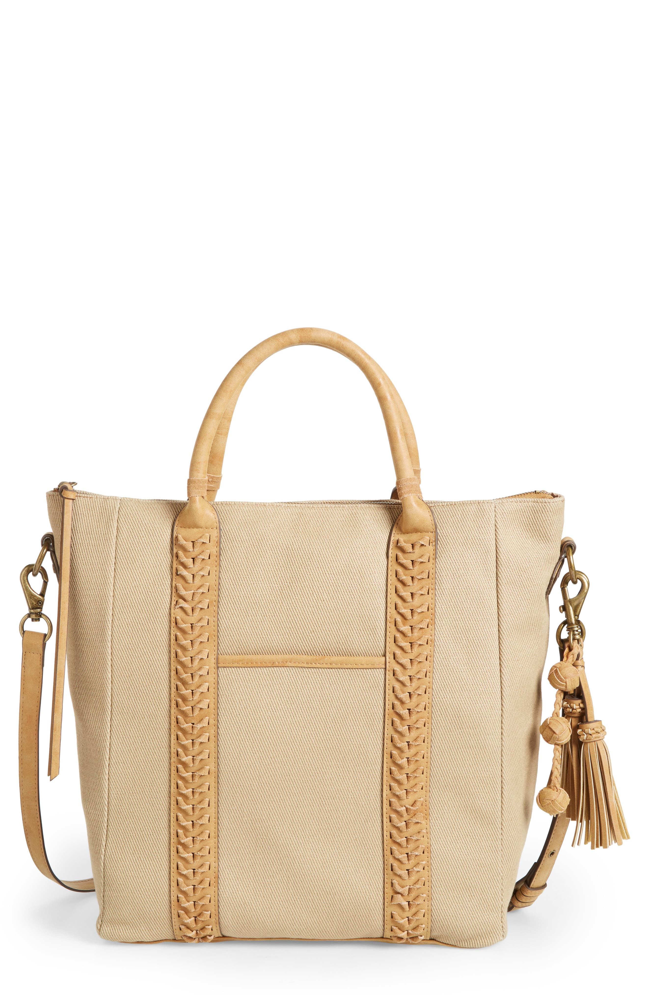 Elle & Jae Gypset Zaragoza Canvas & Faux Leather Tote