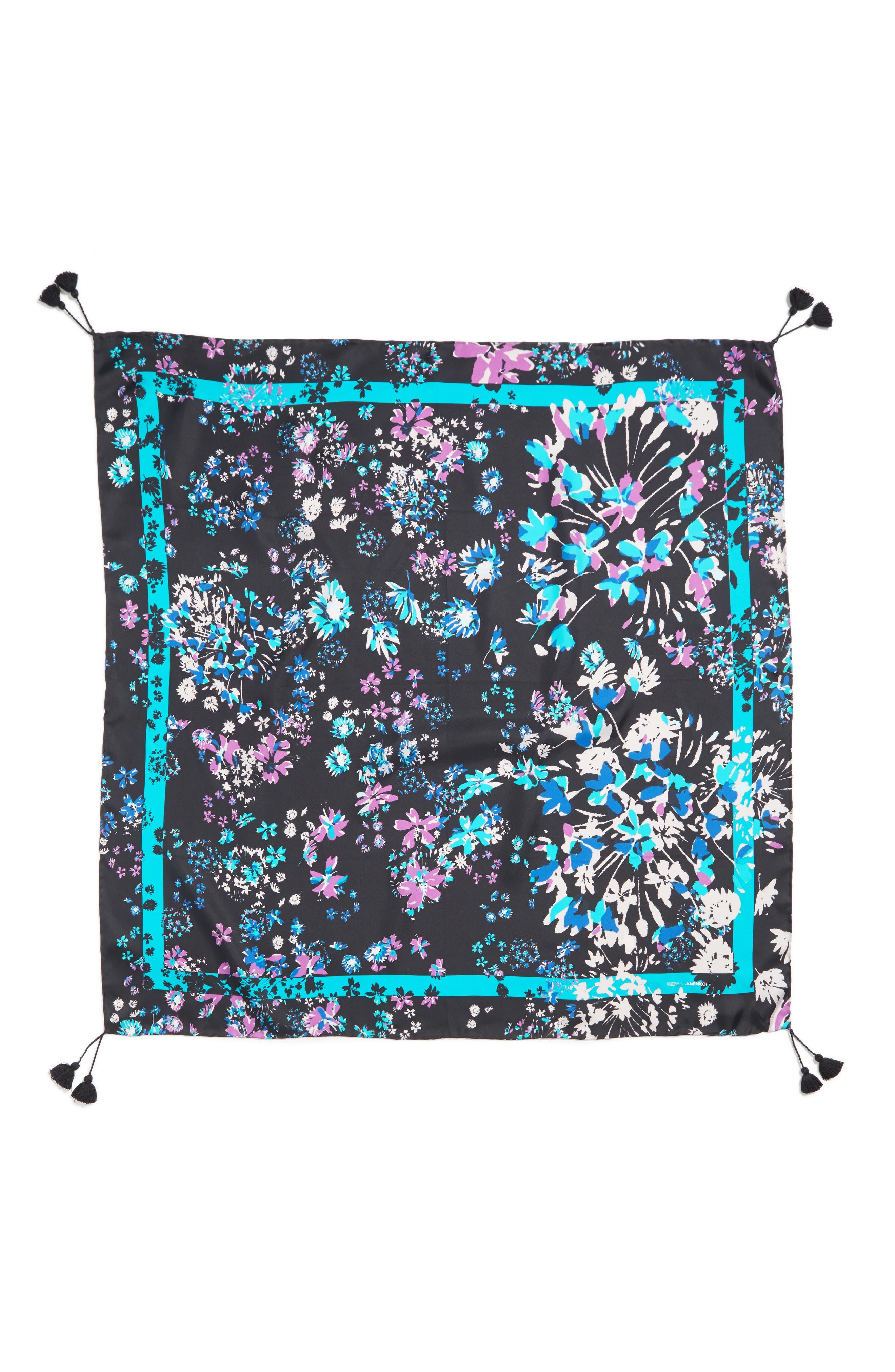 Alternate Image 2  - Rebecca Minkoff Watercolor Garden Square Silk Scarf