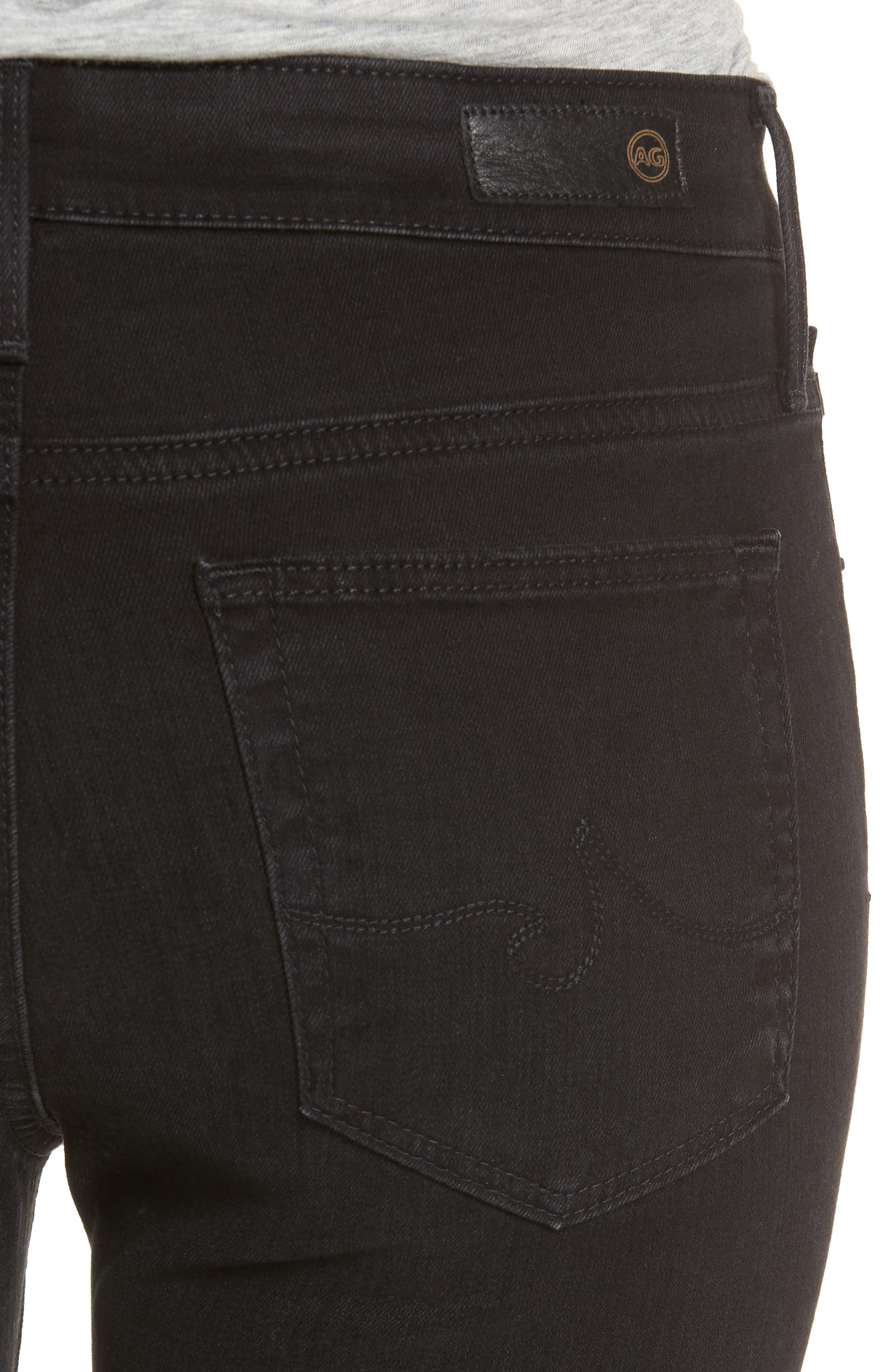 Alternate Image 4  - AG Farrah High Waist Ankle Skinny Jeans (Black Storm)