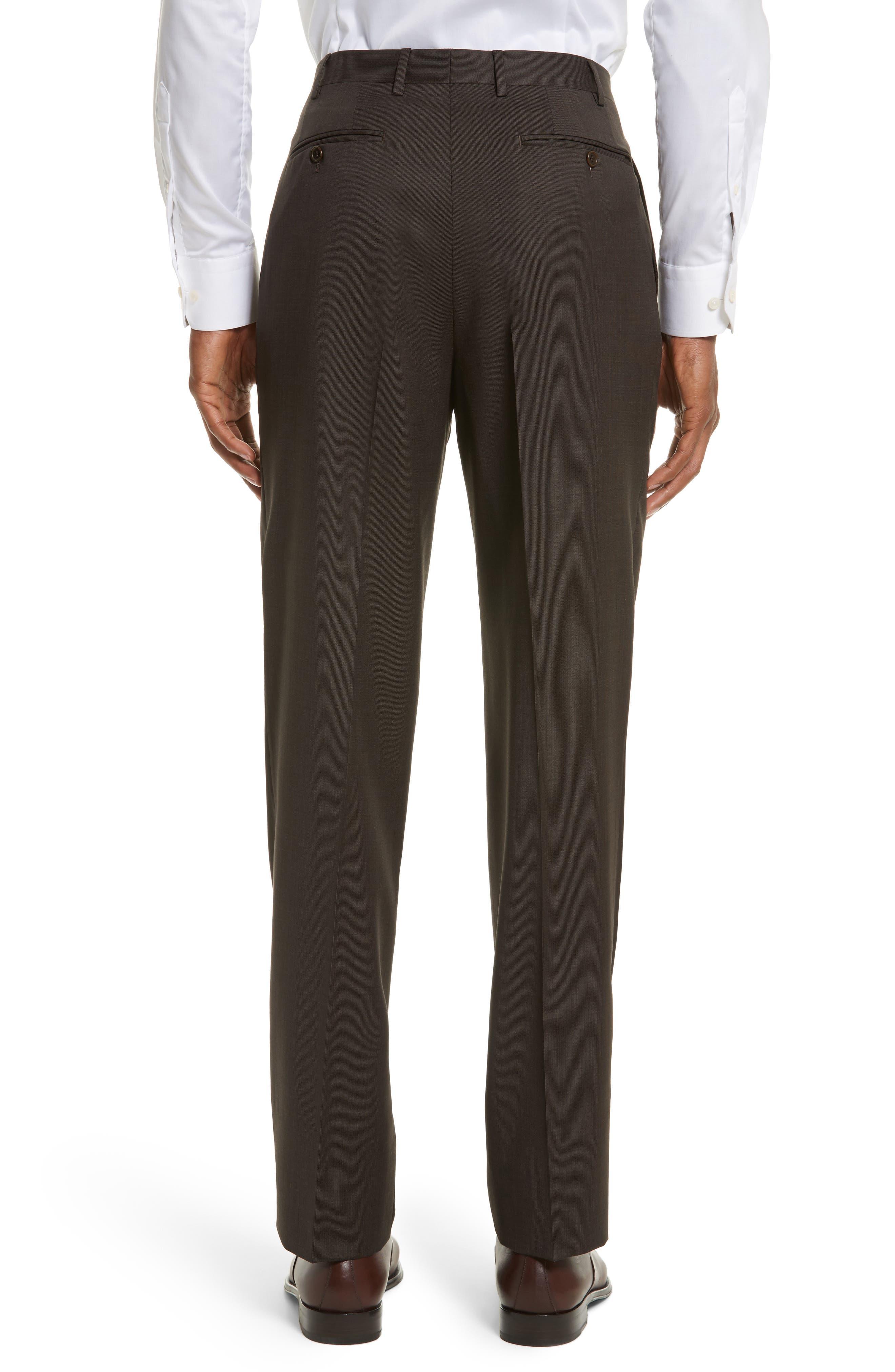 Alternate Image 2  - Canali Flat Front Stripe Wool Trousers