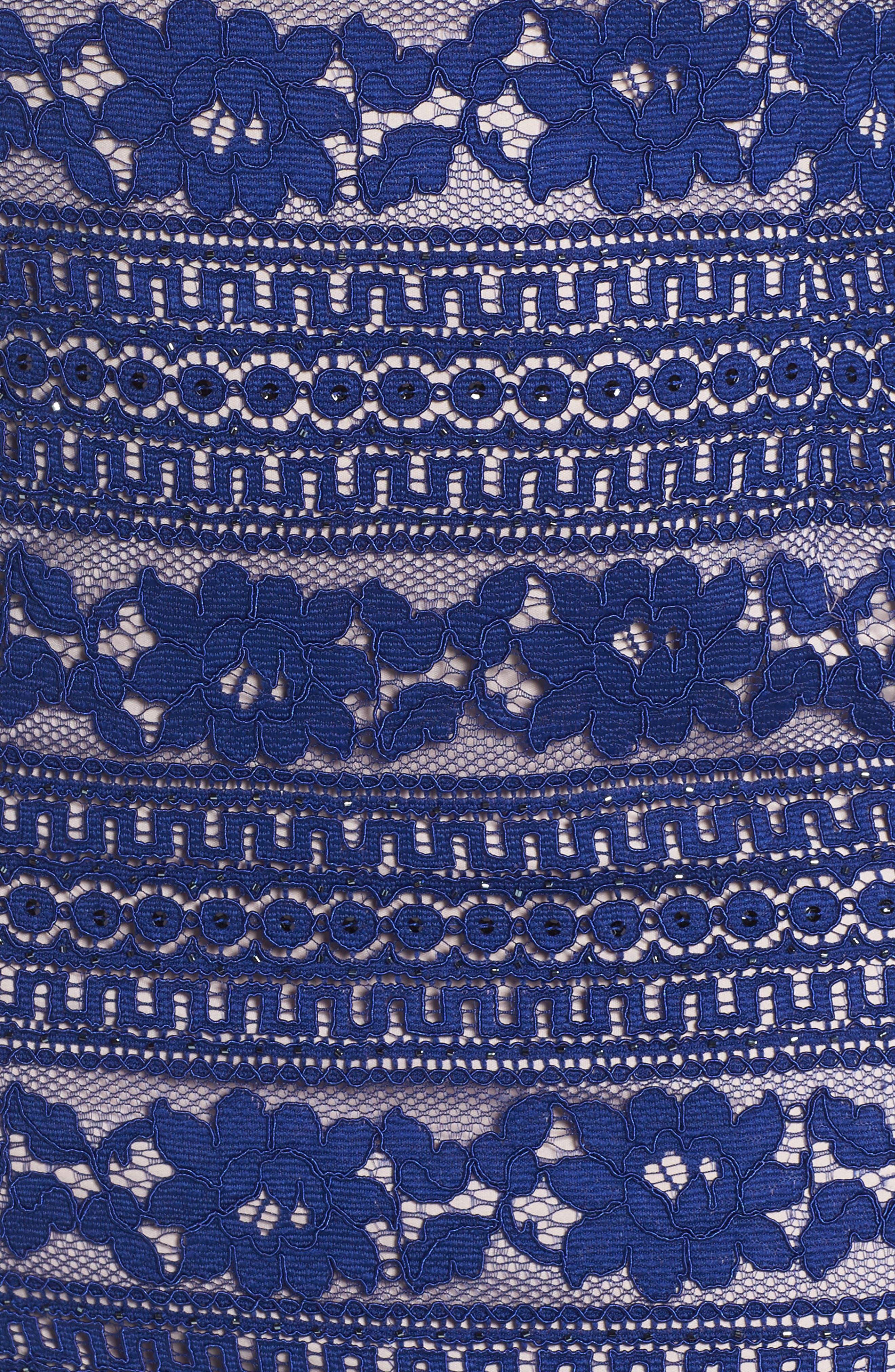 Alternate Image 5  - Adrianna Papell Illusion Sleeve Lace Sheath Dress (Plus Size)