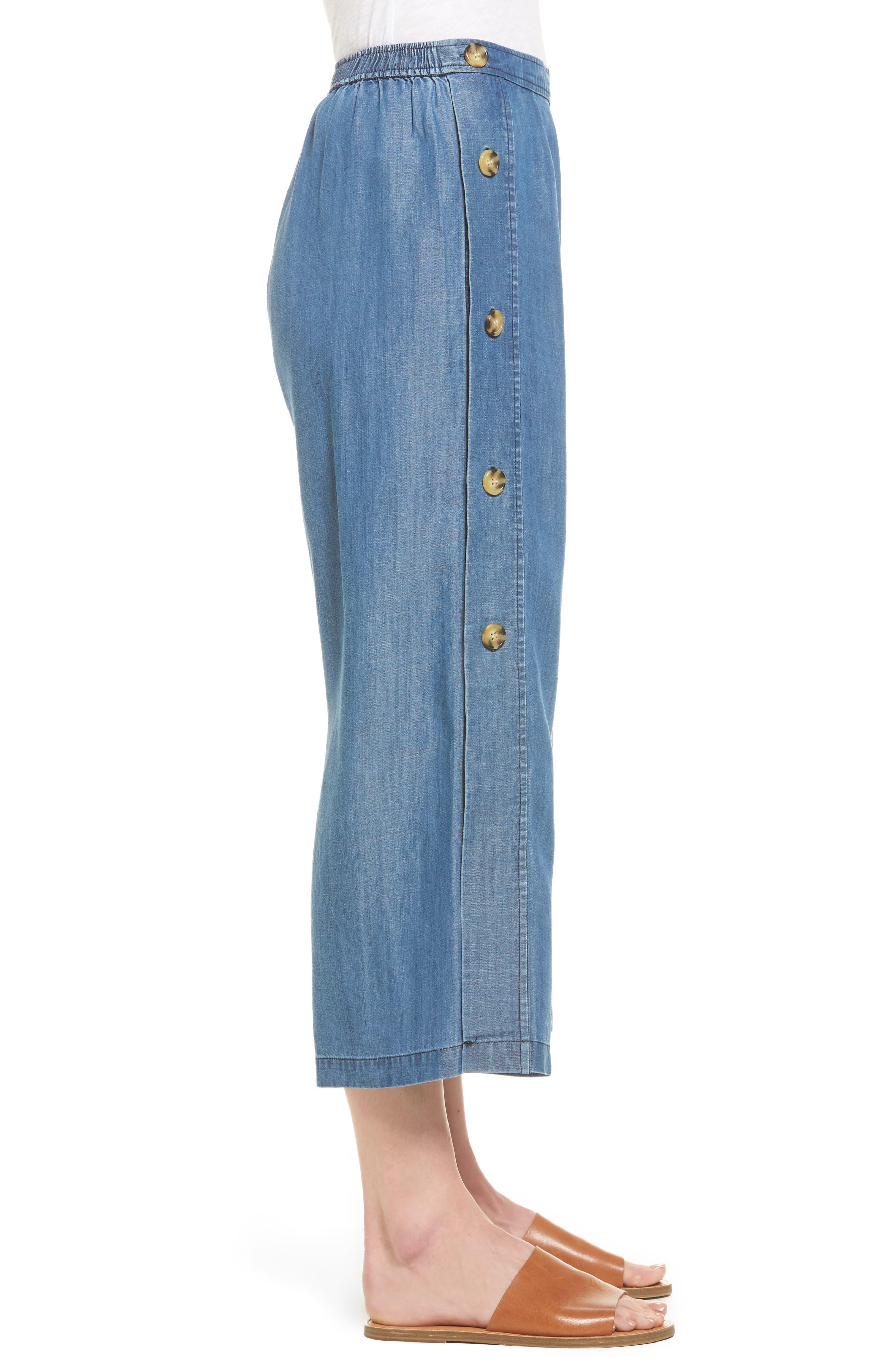 Alternate Image 3  - Catherine Catherine Malandrino Watson Wide Leg Crop Pants