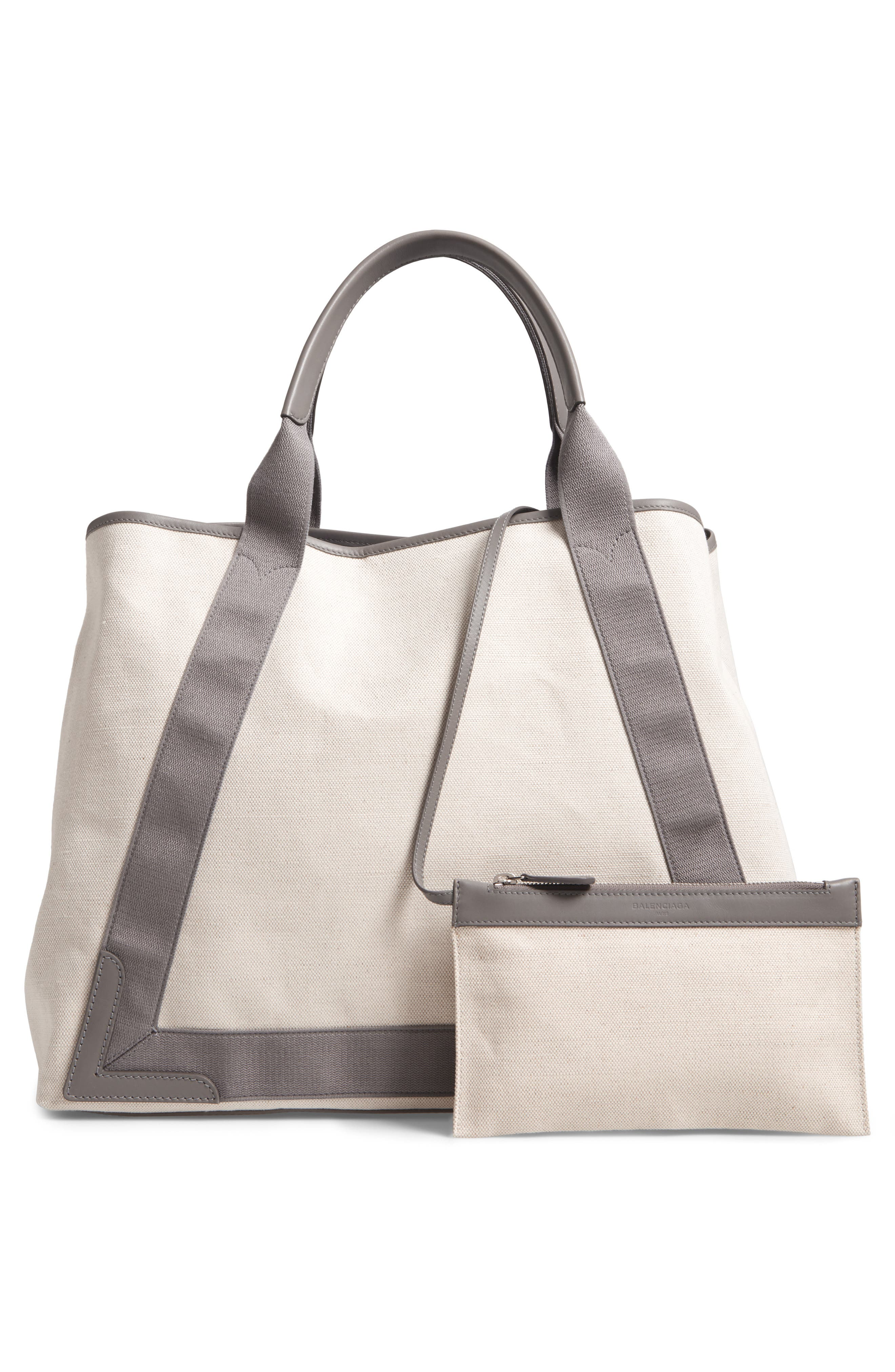 Medium Cabas Canvas Tote,                             Alternate thumbnail 3, color,                             2881 Gris Taupe/Nat/Grt