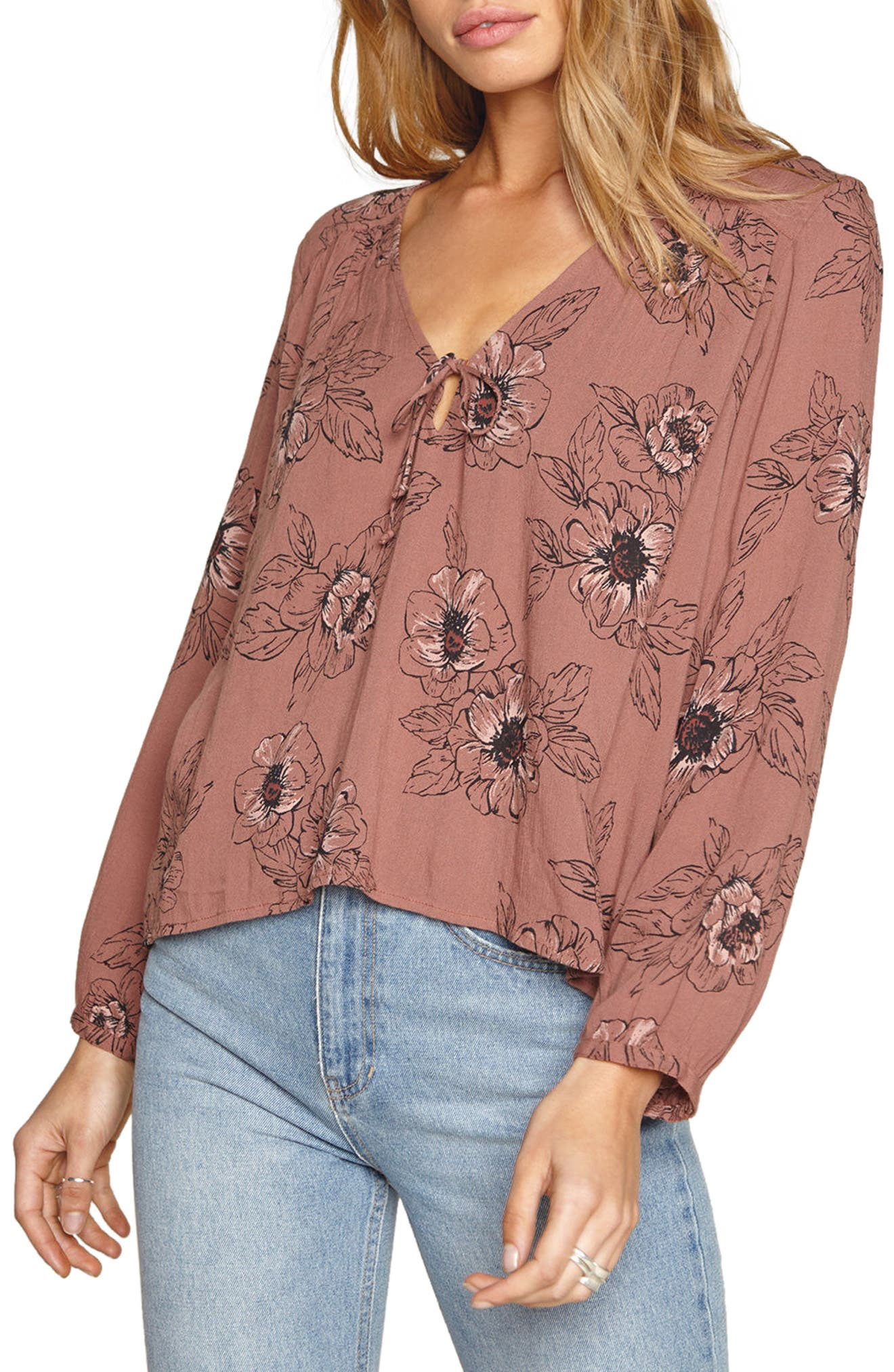 Bleeker Blouse,                         Main,                         color, Moccasin