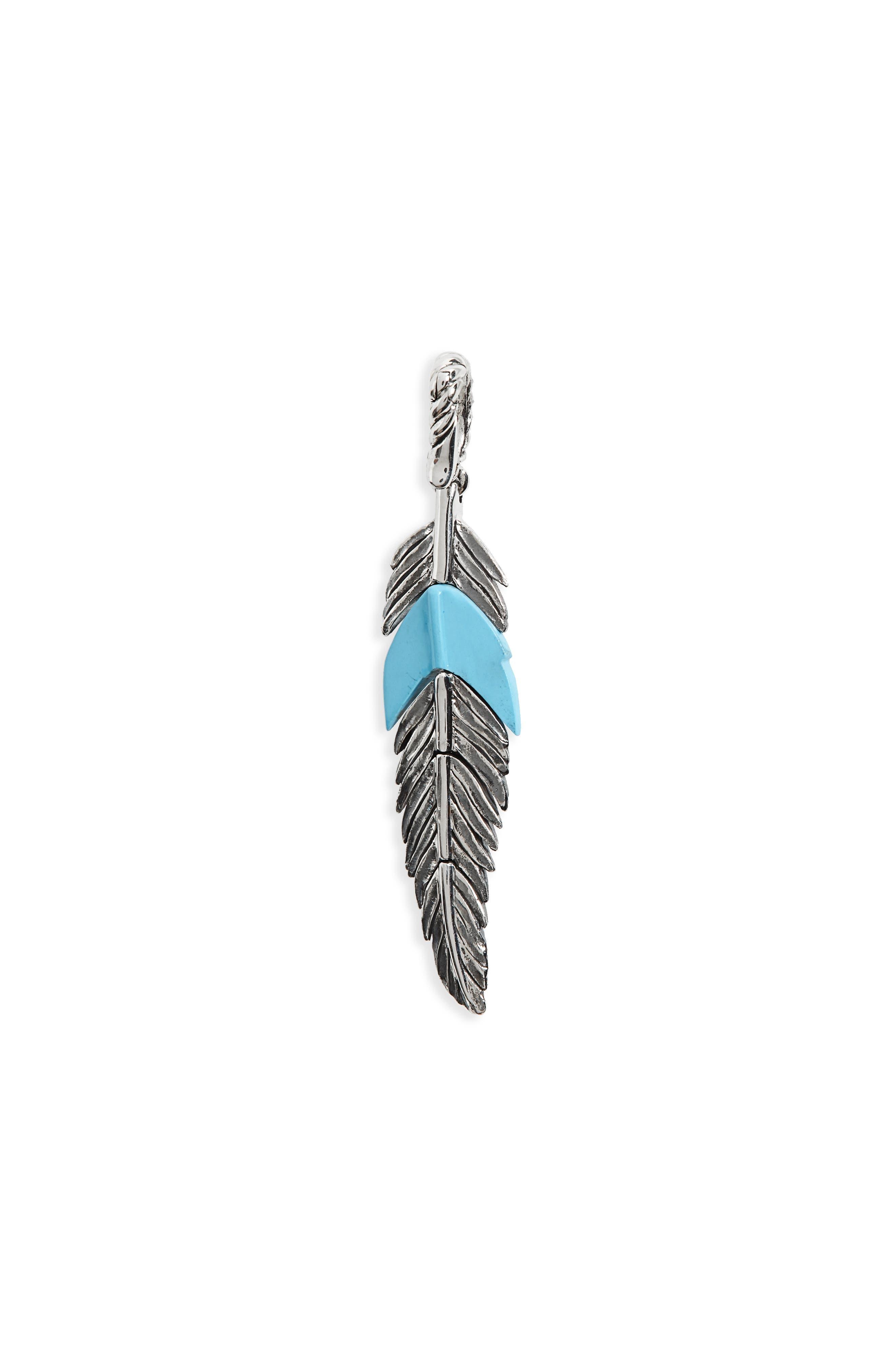 Main Image - David Yurman Feather Amulet with Turquoise