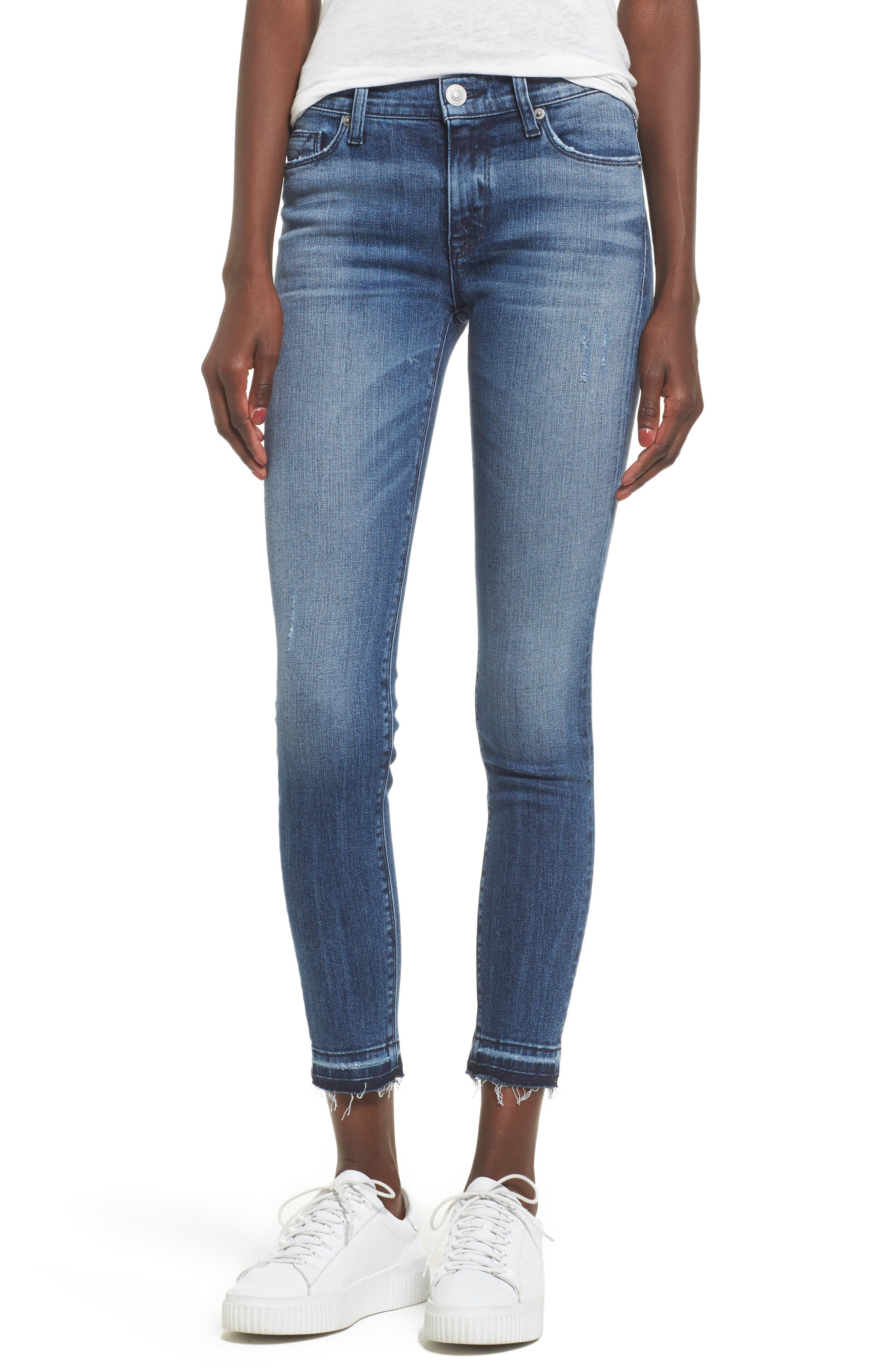 Main Image - Hudson Jeans Nico Released Hem Ankle Skinny Jeans