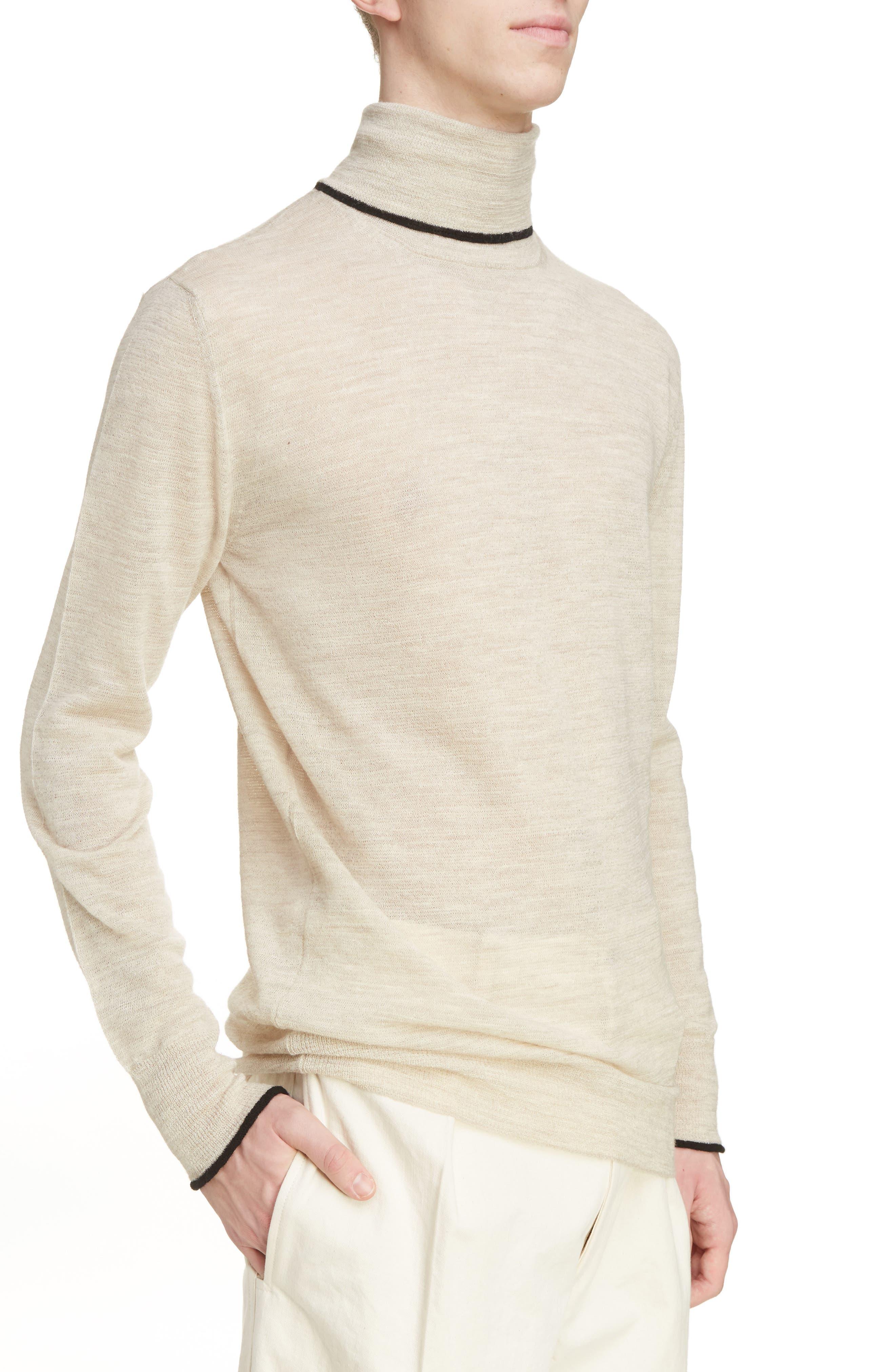 Alternate Image 4  - Lanvin Contrast Tipped Wool Turtleneck