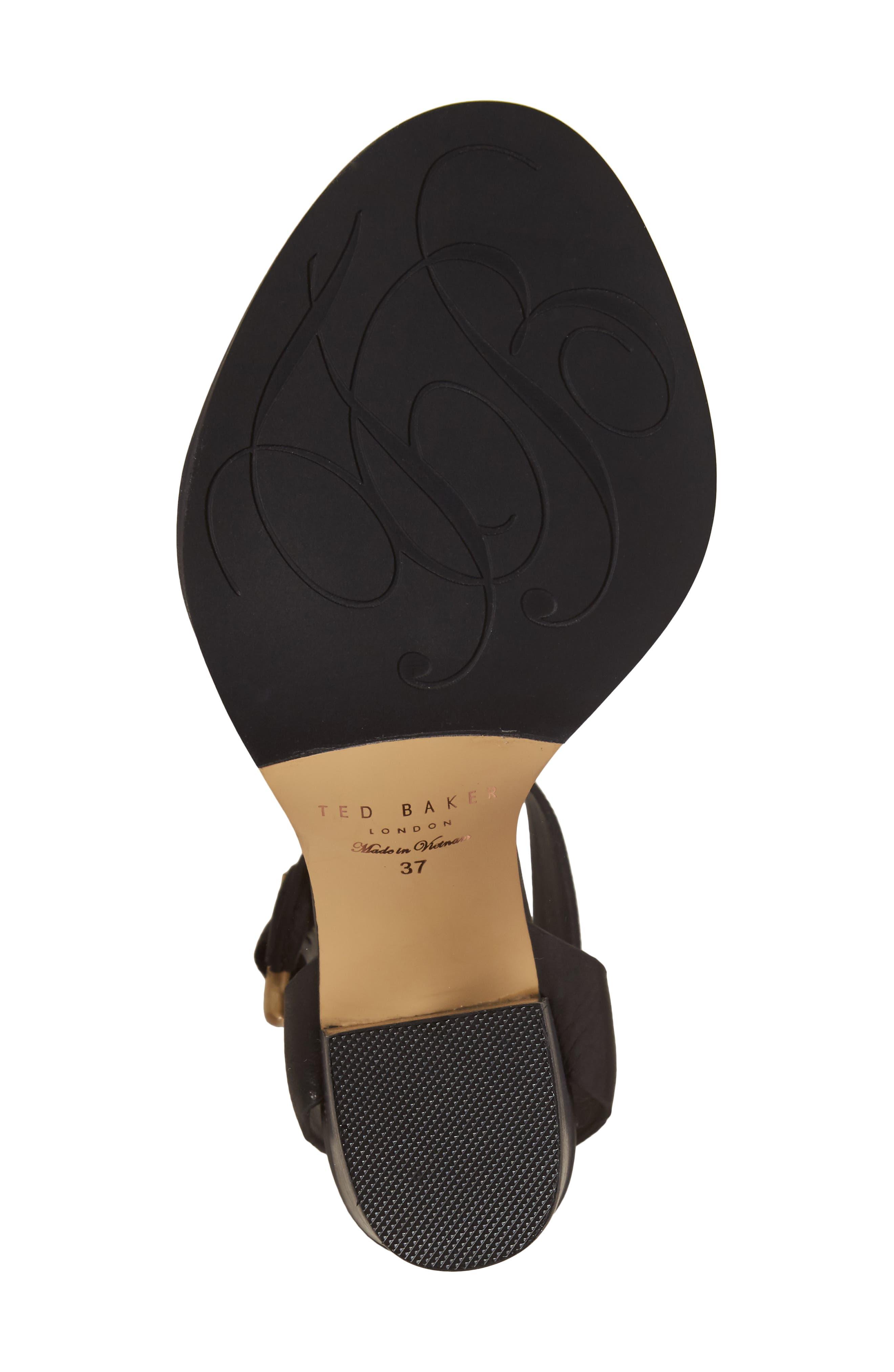 Betciy Ankle Strap Sandal,                             Alternate thumbnail 6, color,                             Black Leather