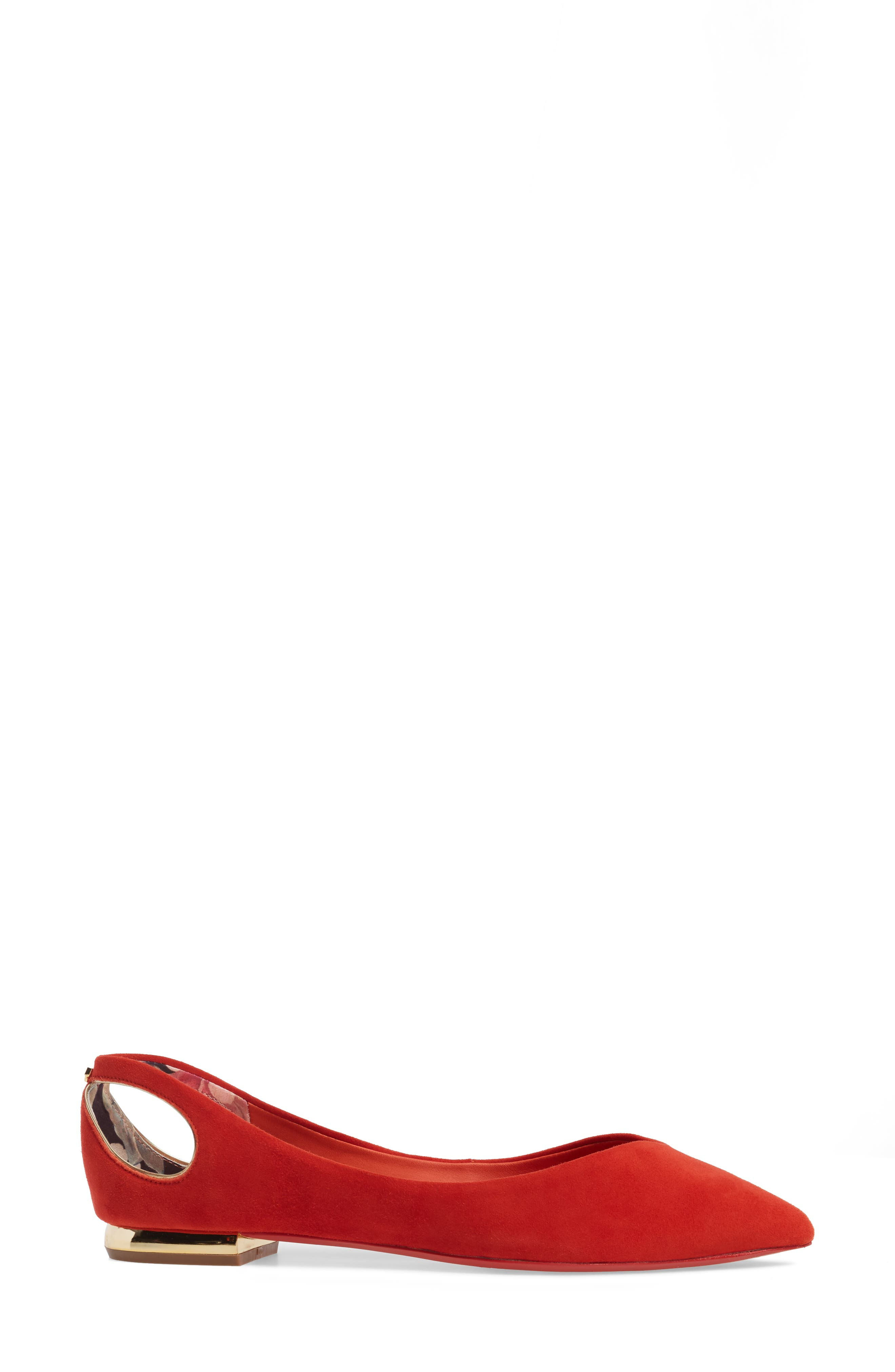 Alternate Image 3  - Ted Baker London Dabih Pointy Toe Flat (Women)