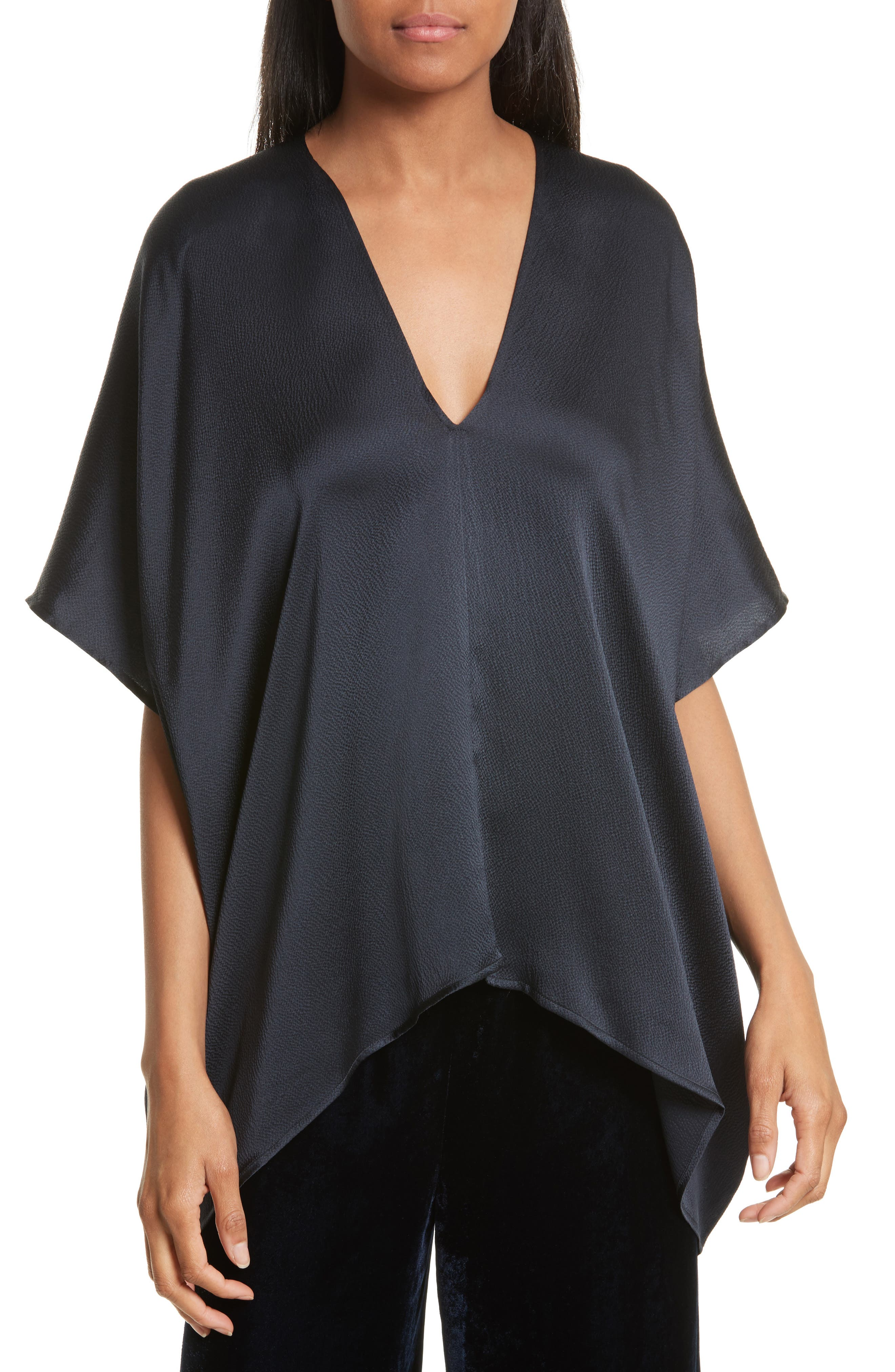 NILI LOTAN Citrine Hammered Silk Top