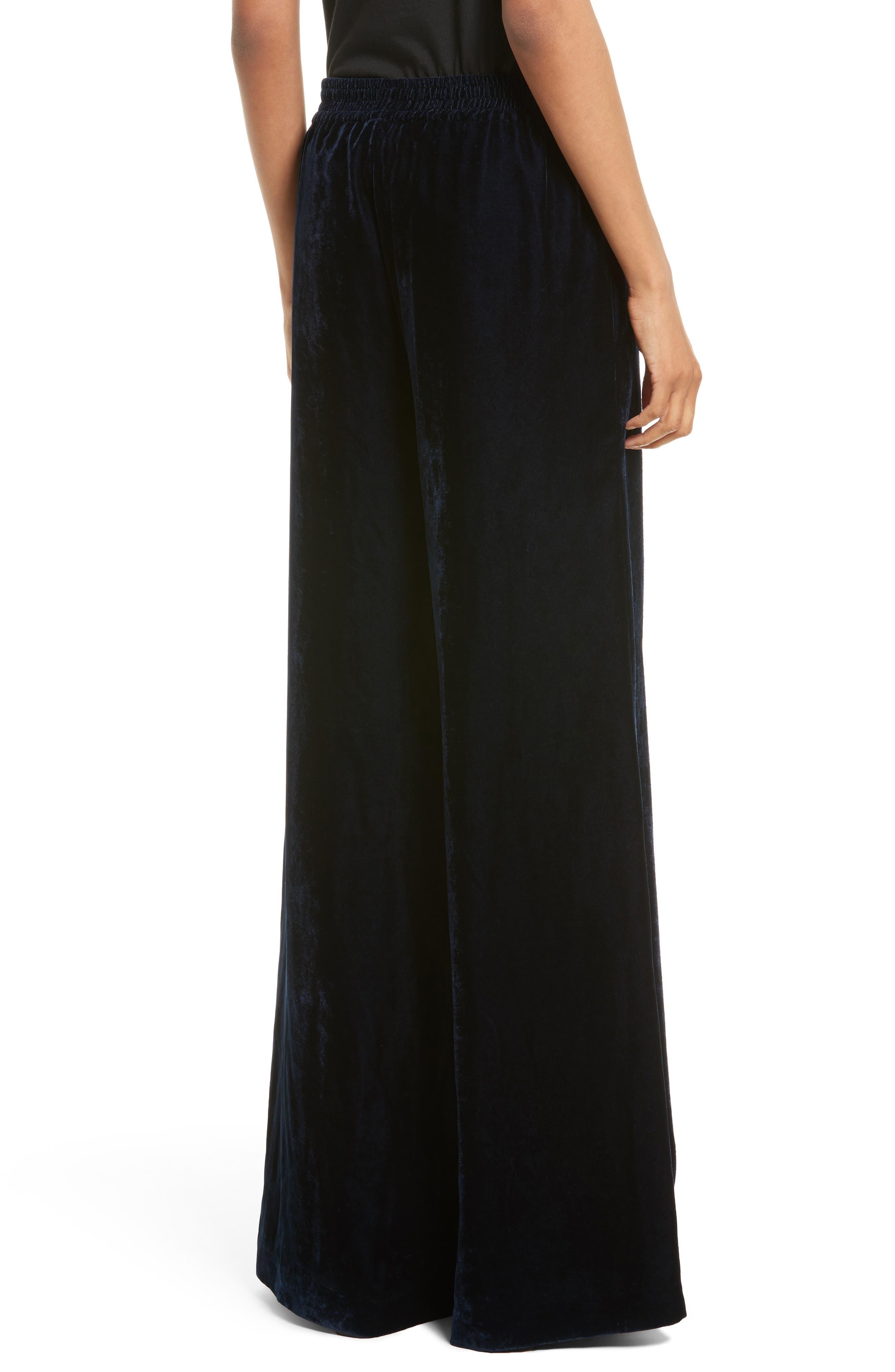 Alternate Image 2  - Nili Lotan Harlow Sandwashed Velvet Pants