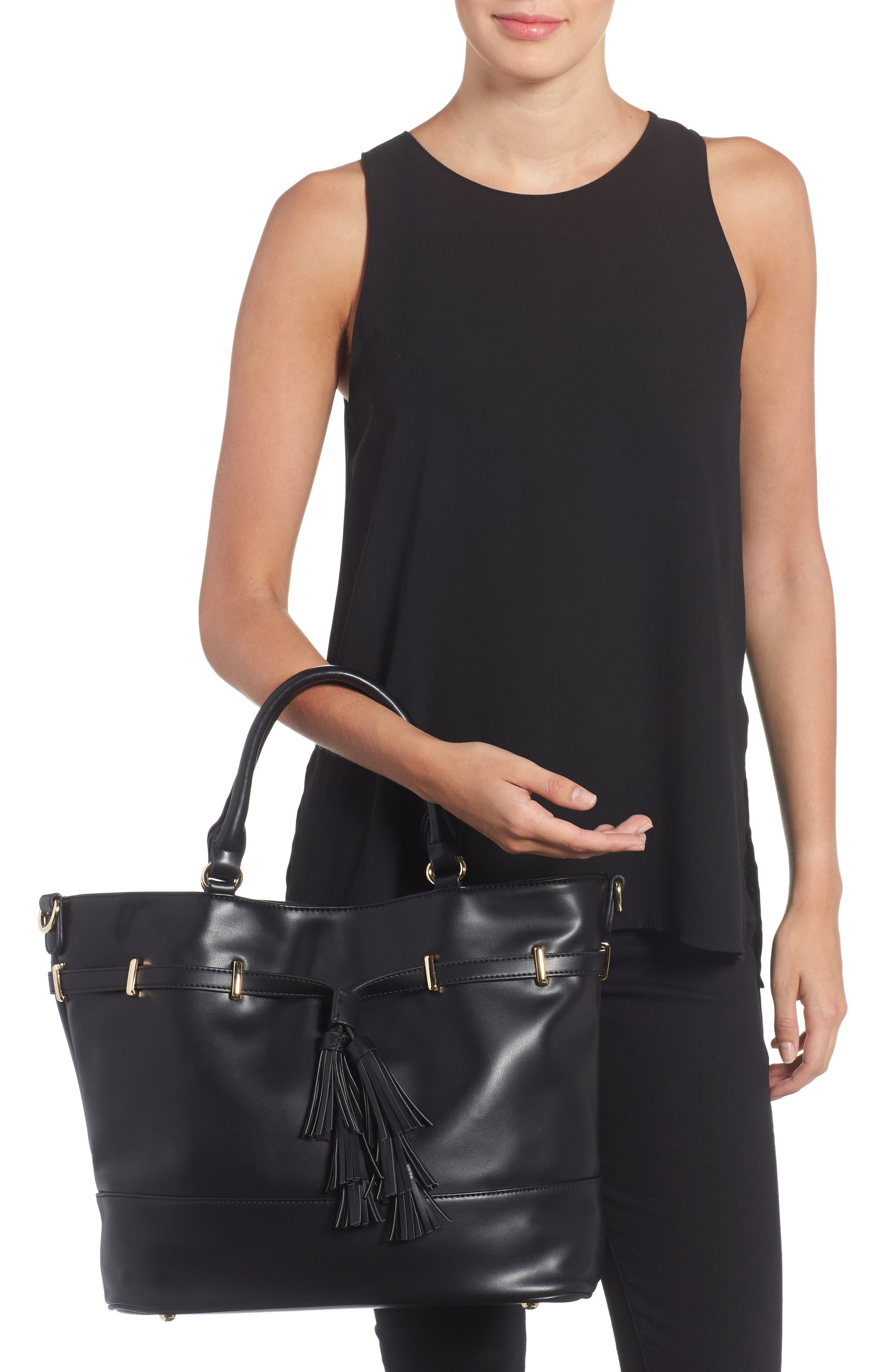 Alternate Image 2  - Sole Society Ryka Tassel Faux Leather Tote