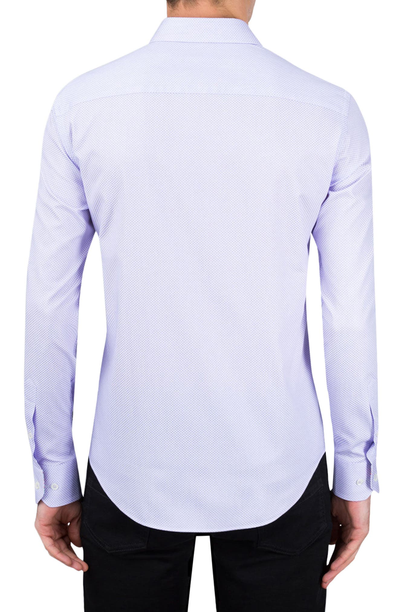 Alternate Image 2  - Bugatchi Classic Fit Diamond Print Sport Shirt