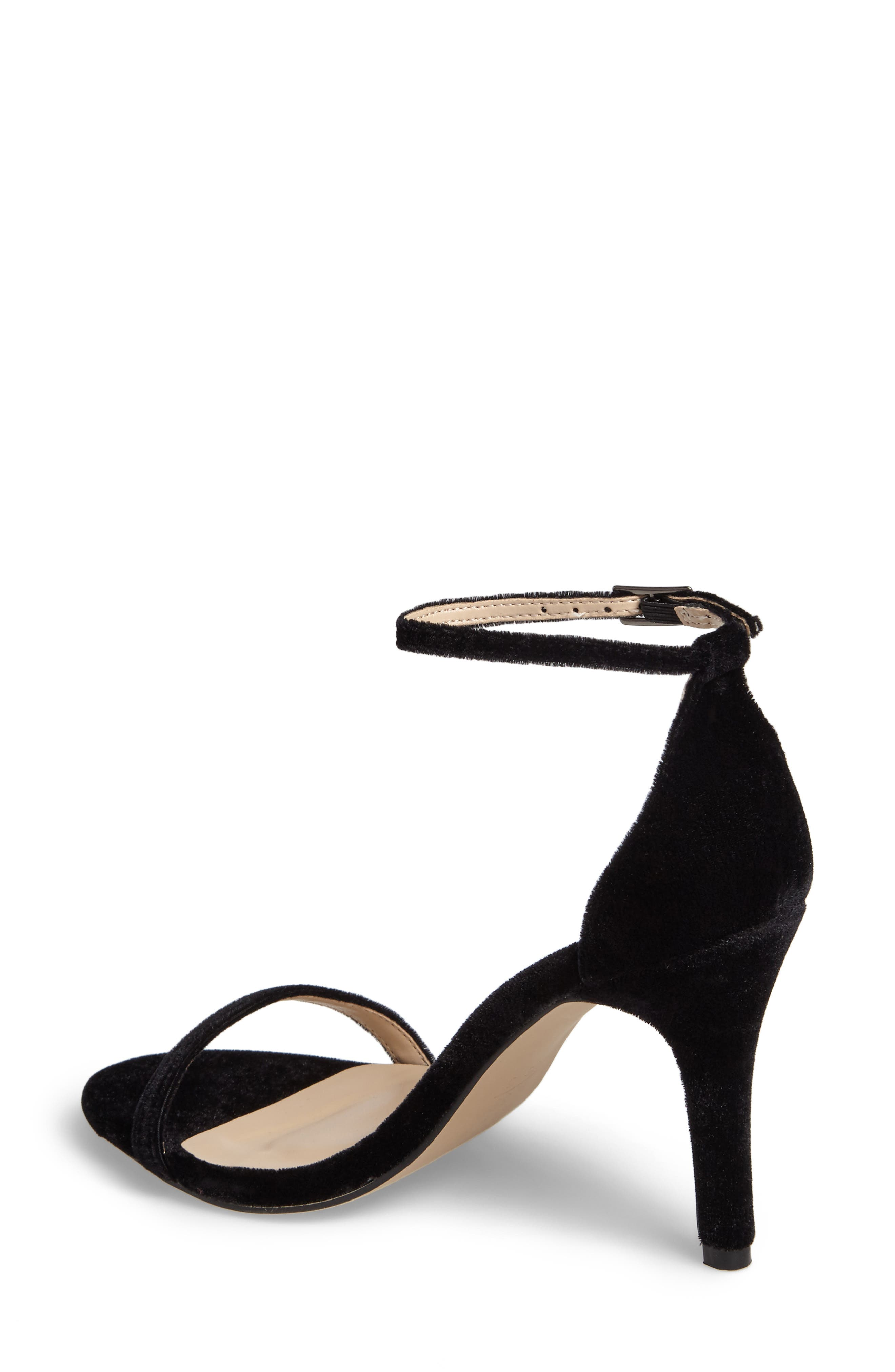 Mini Ankle Strap Sandal,                             Alternate thumbnail 2, color,                             Black Velvet