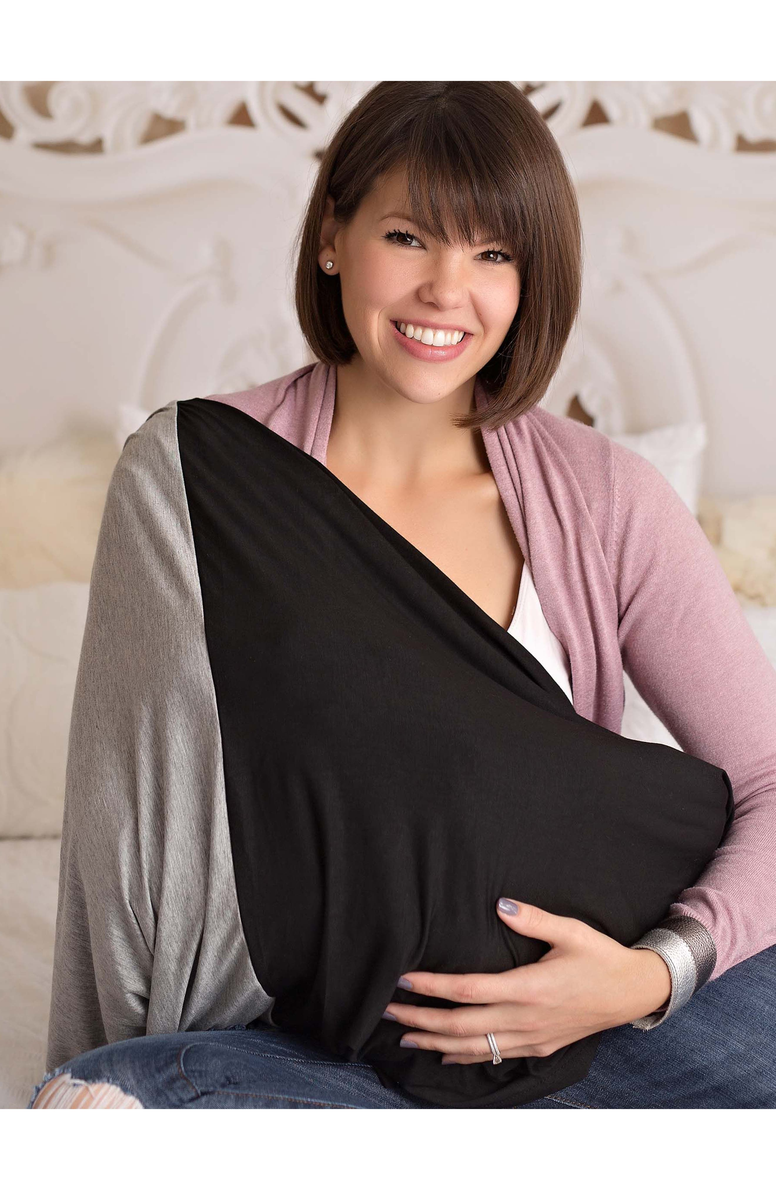Alternate Image 7  - Itzy Ritzy Infinity Nursing Scarf with Leather Cuff