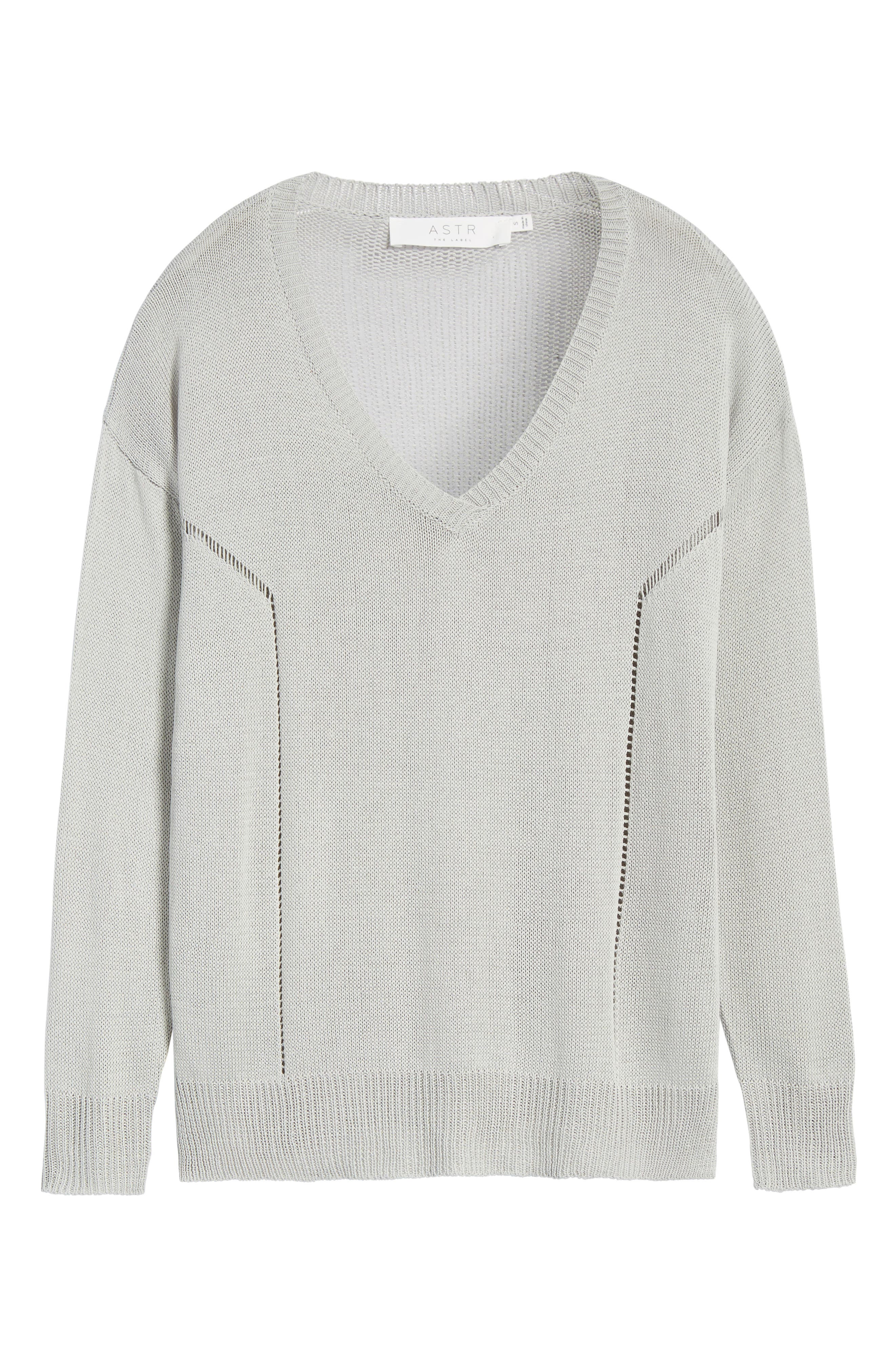 Alternate Image 6  - ASTR the Label Open Lines V-Neck Sweater