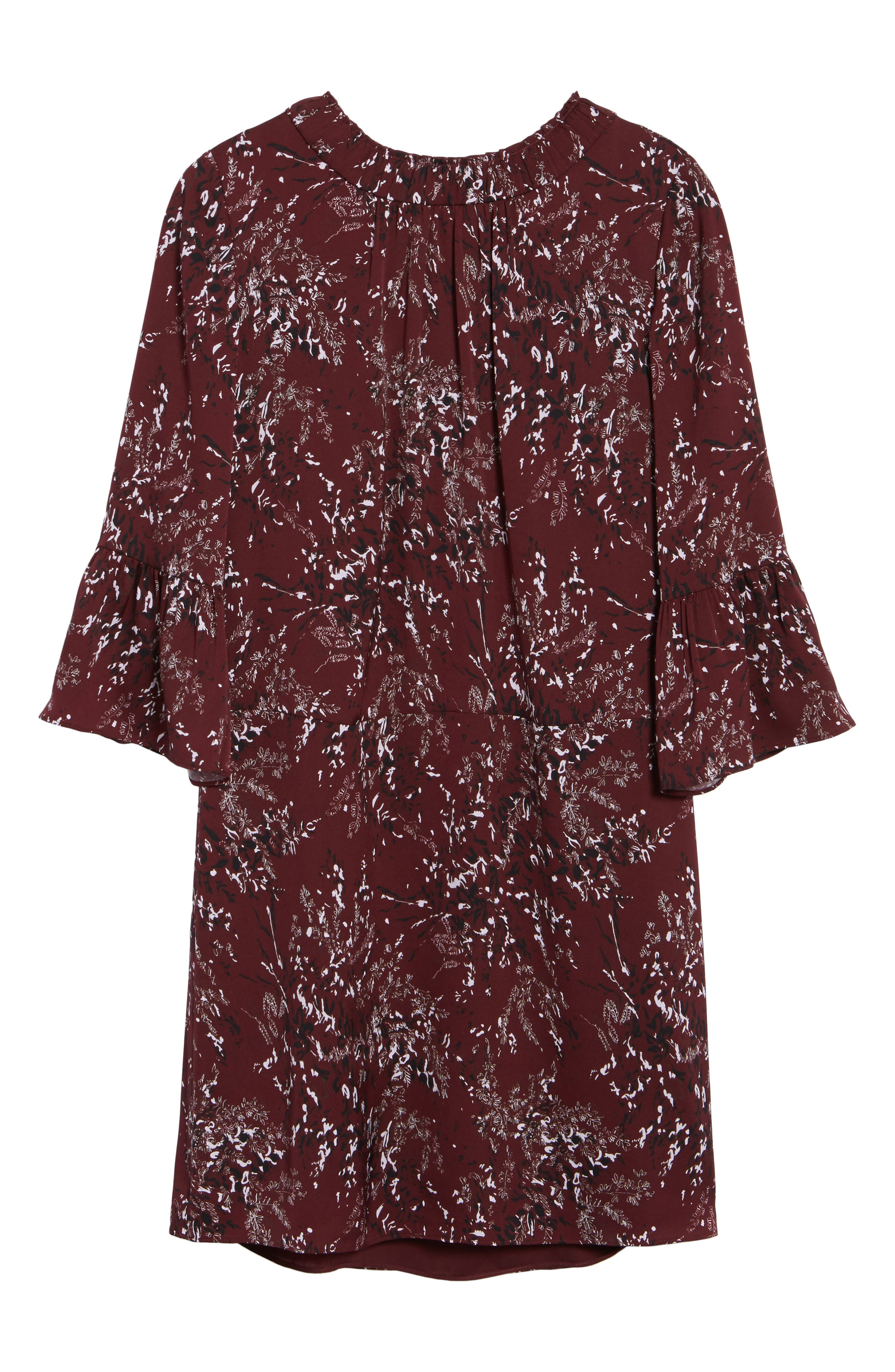 Alternate Image 6  - Nordstrom Signature Floral Print Stretch Silk Minidress