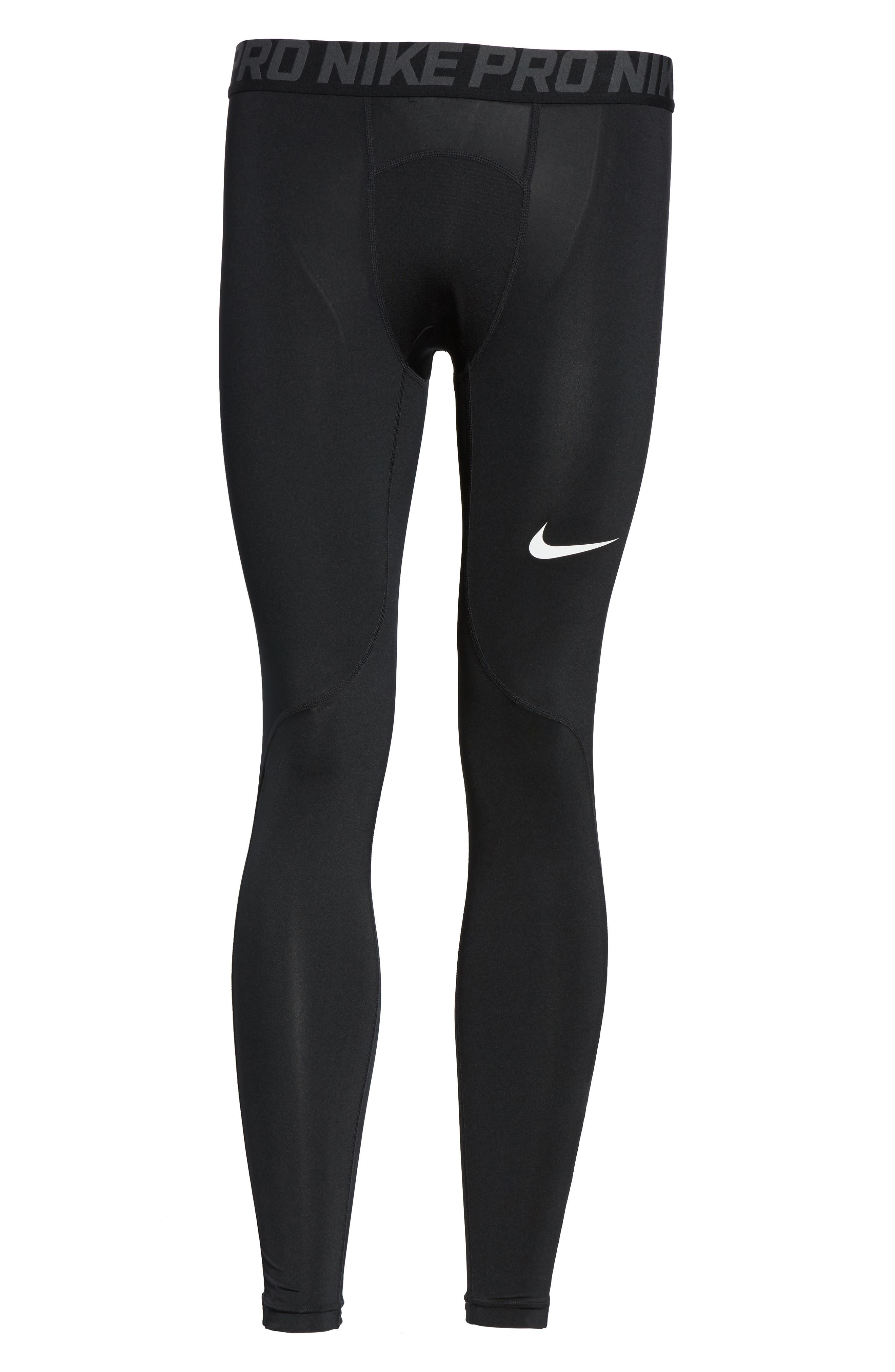 Alternate Image 6  - Nike Pro Three Quarter Training Tights