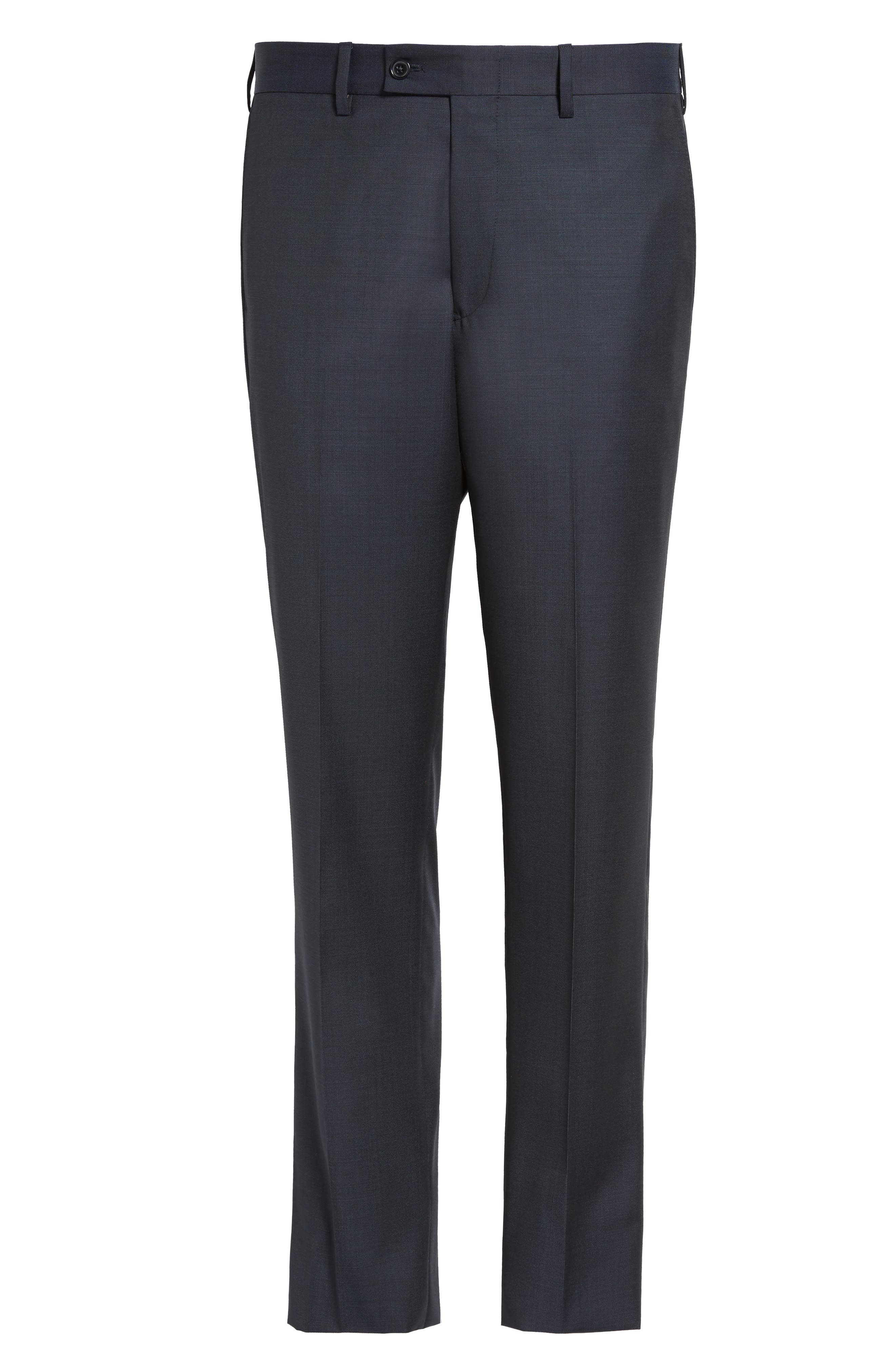 Alternate Image 6  - JB Britches Flat Front Solid Wool Trousers