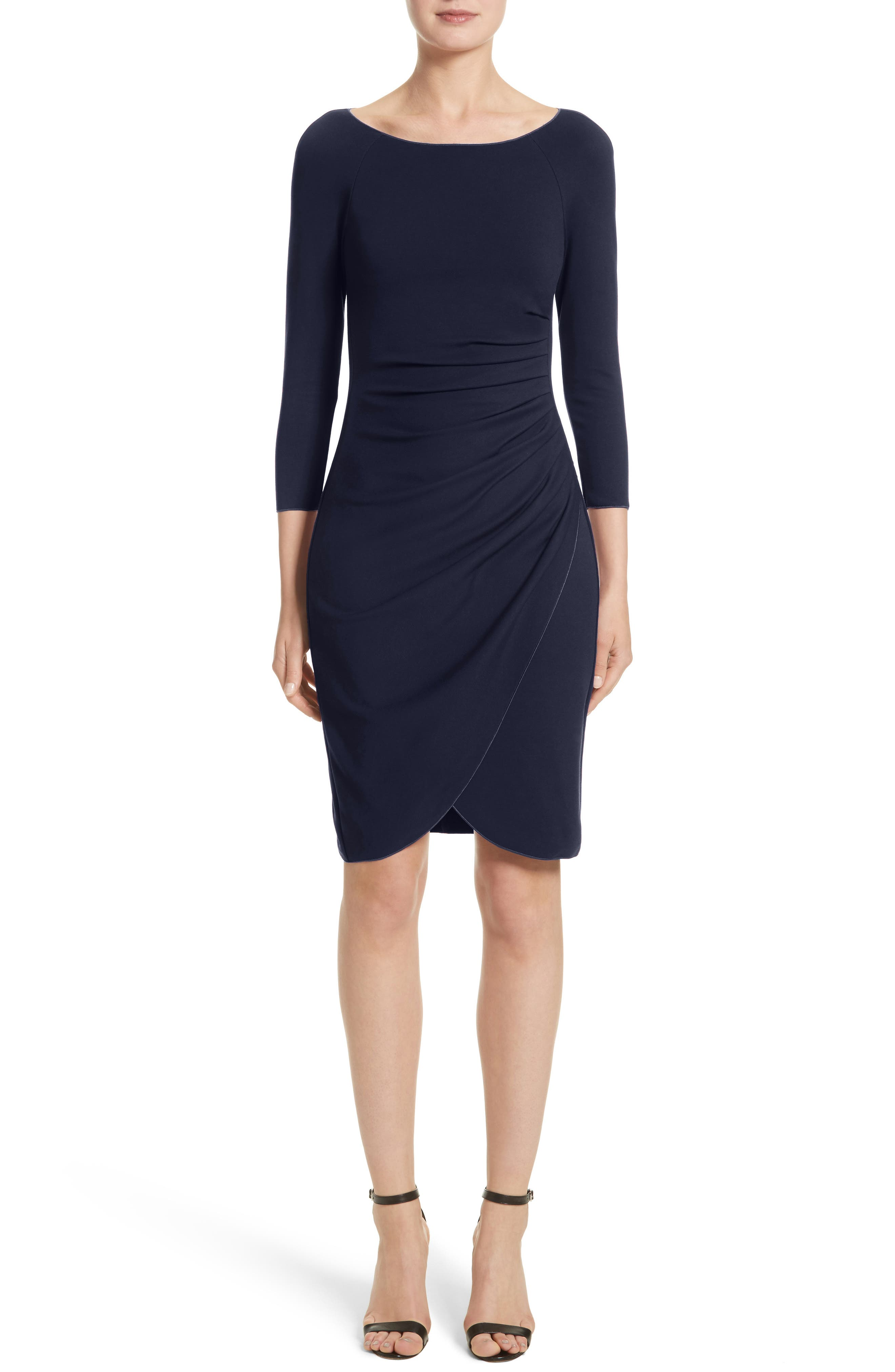 Armani Collezioni Milano Jersey Petal Hem Dress (Nordstrom Exclusive)