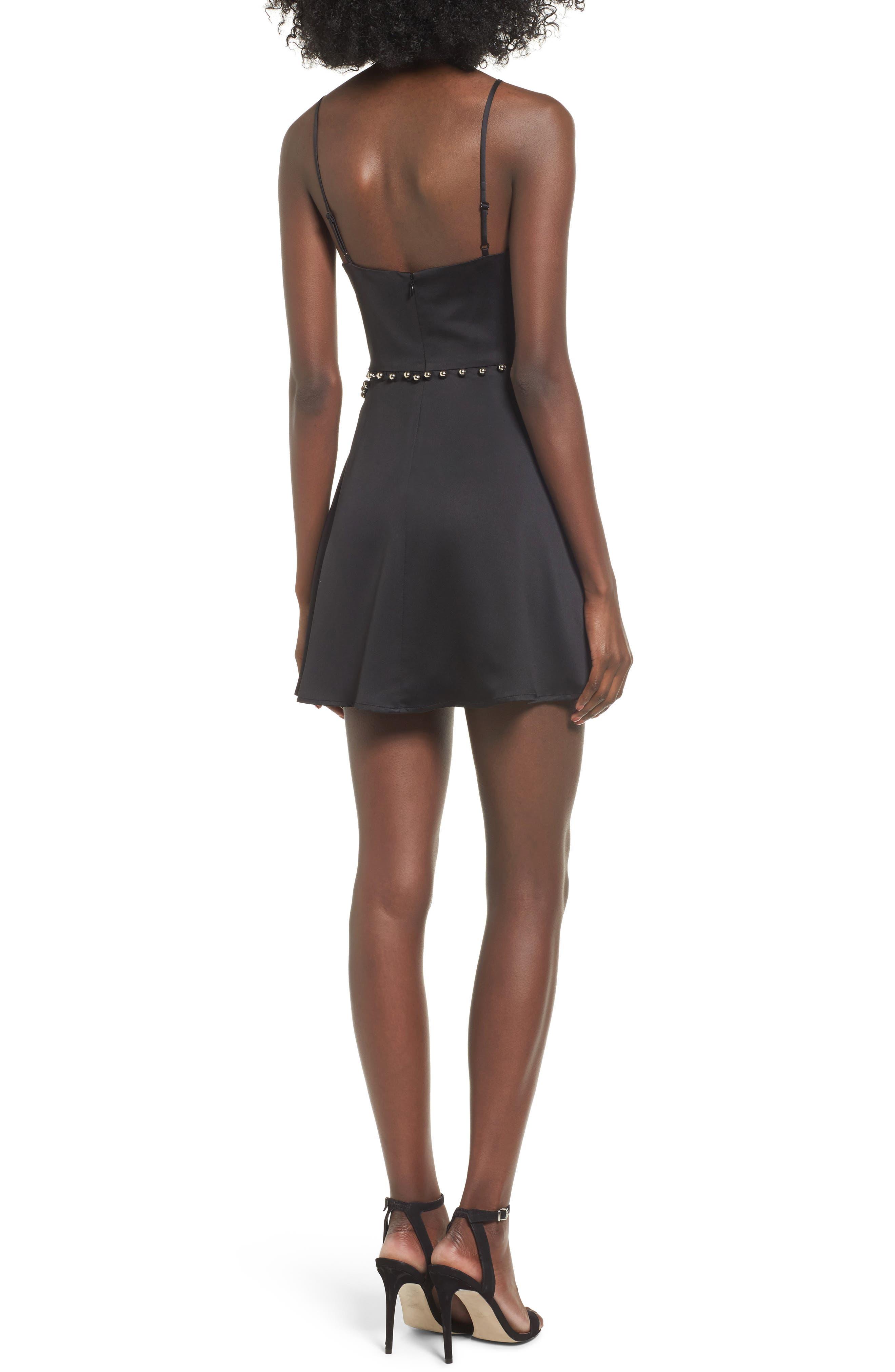 Brandi Fit & Flare Dress,                             Alternate thumbnail 2, color,                             Black