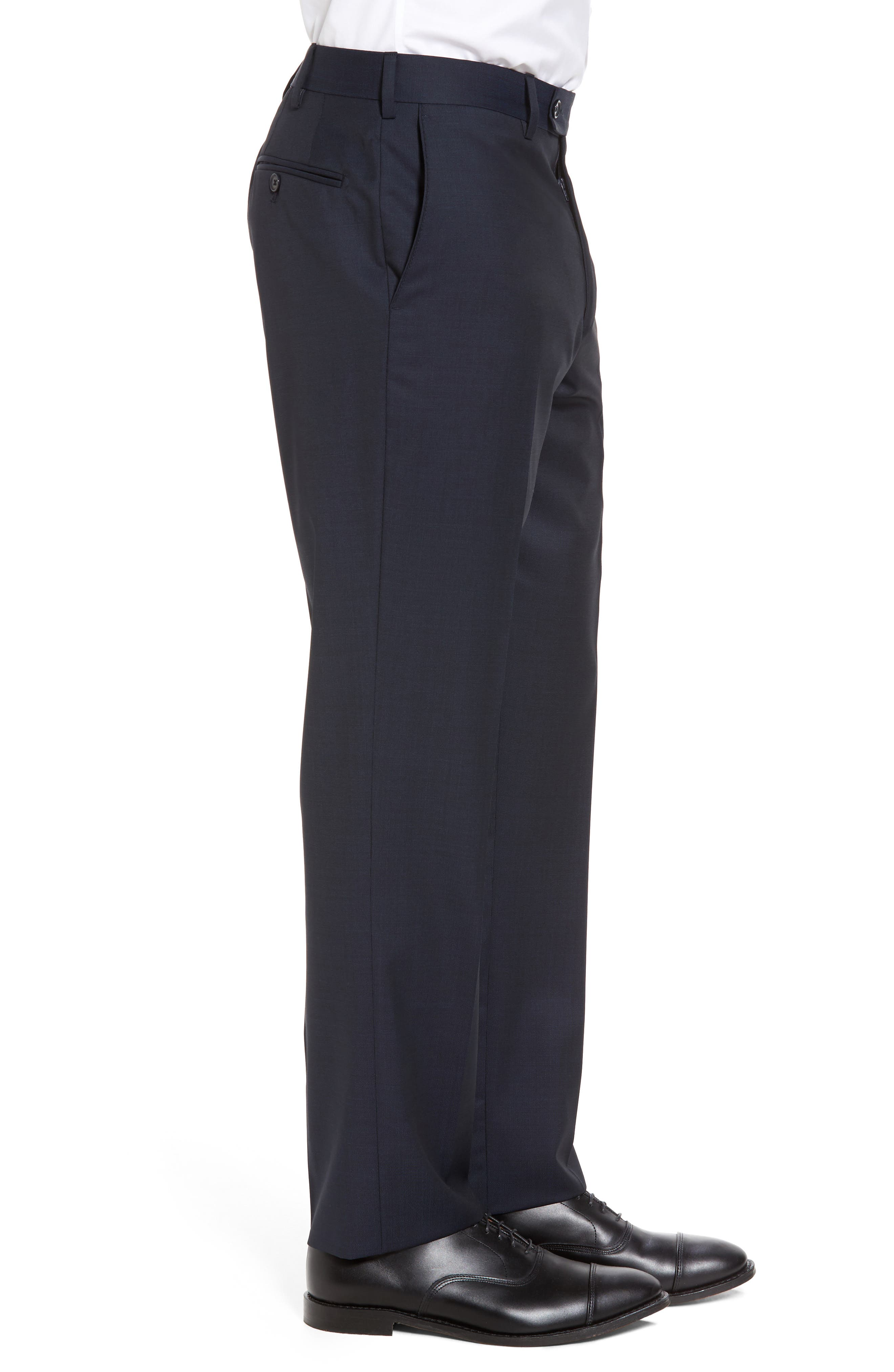 Alternate Image 3  - JB Britches Flat Front Solid Wool Trousers