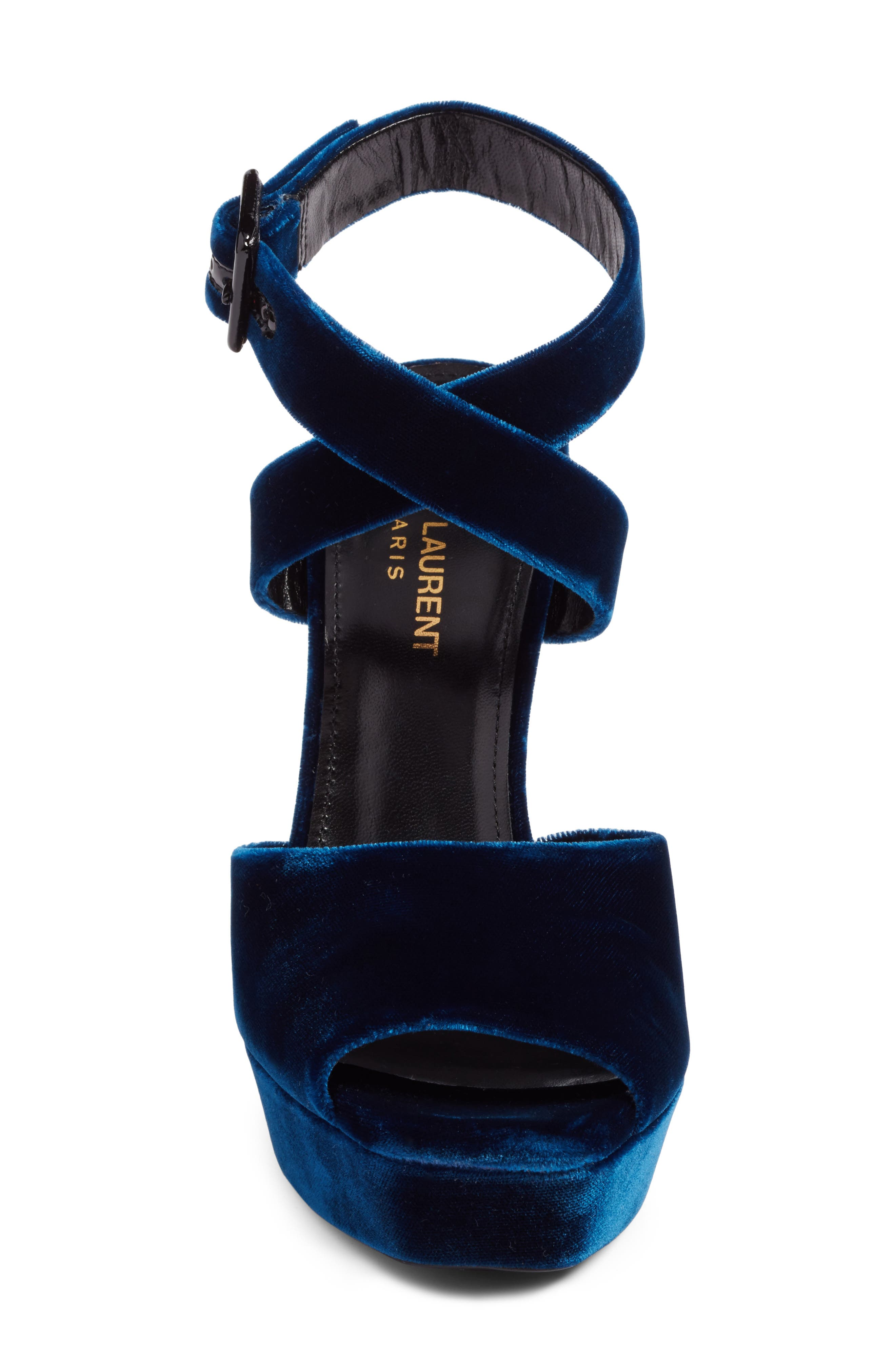 Debbie Platform Sandal,                             Alternate thumbnail 4, color,                             Blue