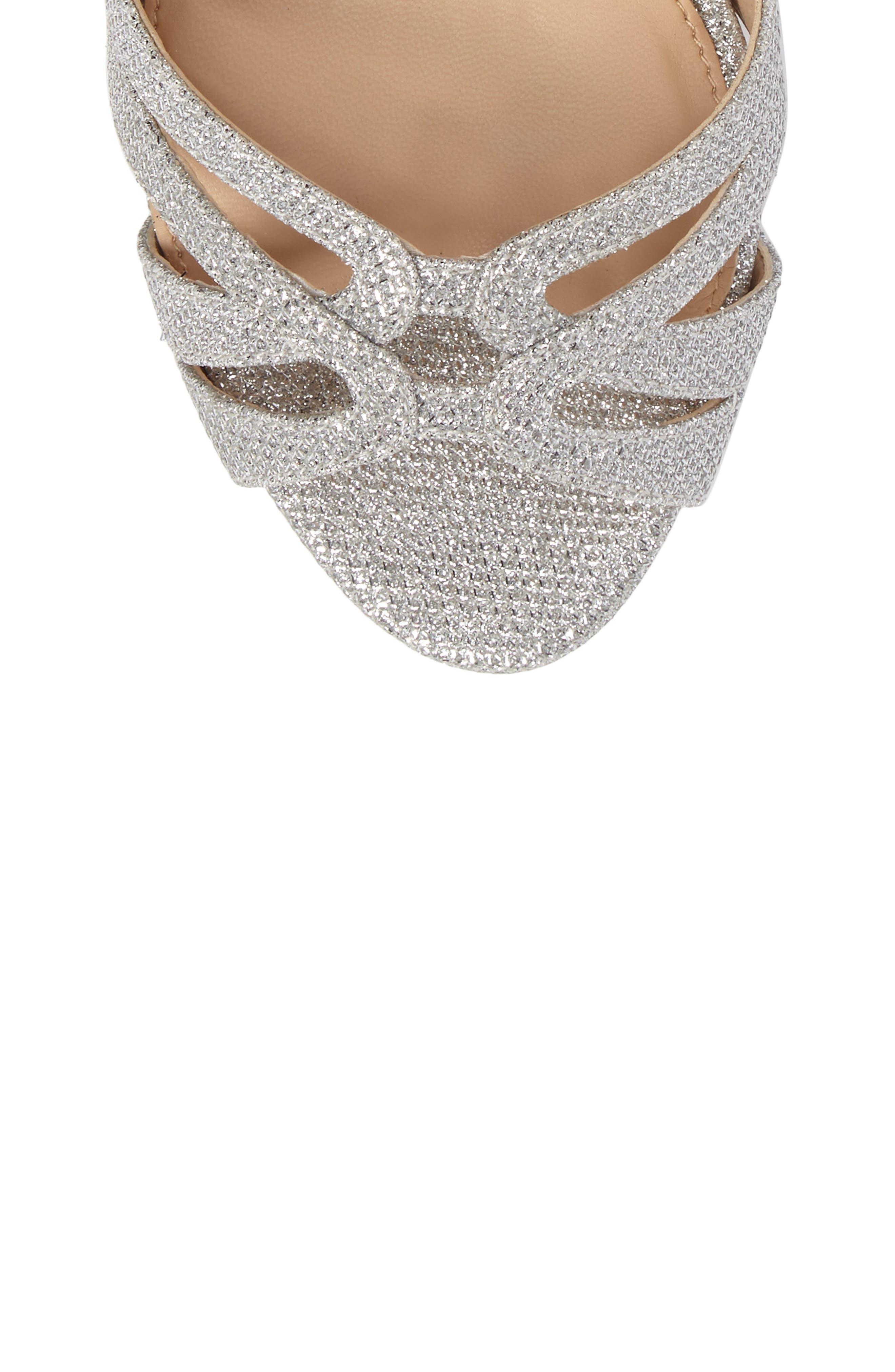 Alternate Image 5  - Jewel Badgley Mischka Loyal Glitter Sandal (Women)