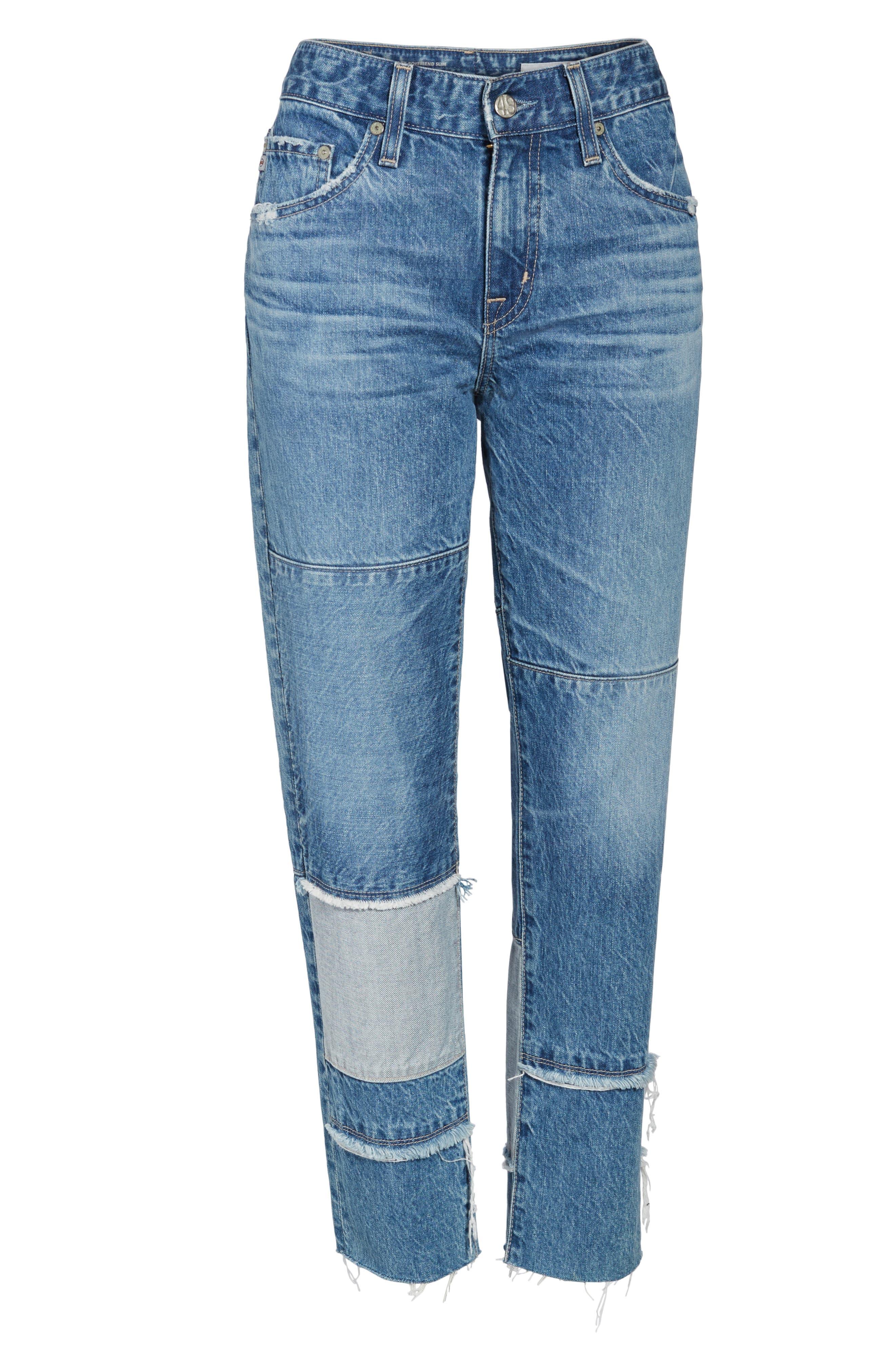 Alternate Image 6  - AG The Ex-Boyfriend Crop Slim Jeans (18 Years Blue Mosque)