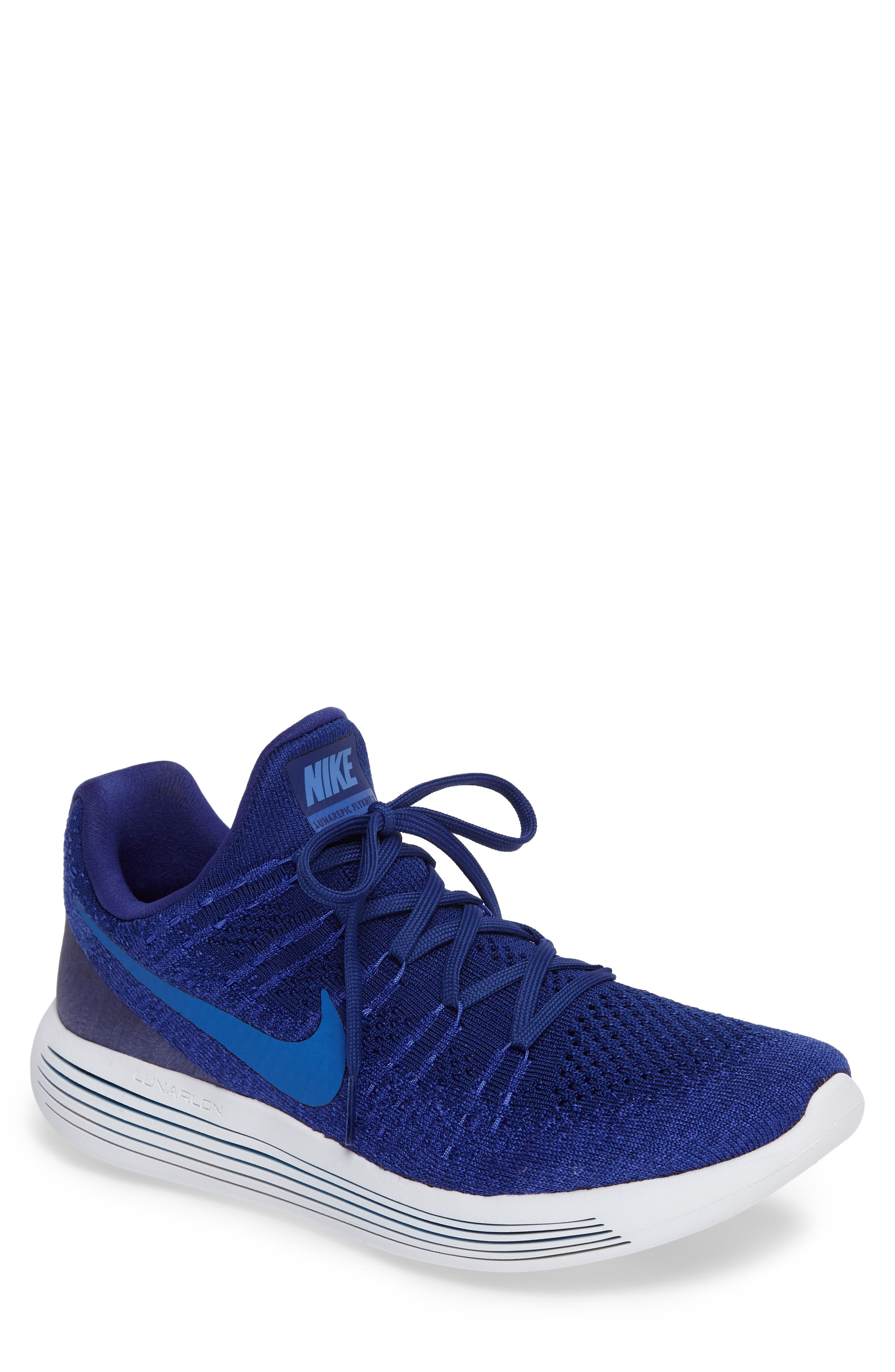 Flyknit 2 LunarEpic Running Shoe,                             Main thumbnail 1, color,                             Royal Blue/ Blue