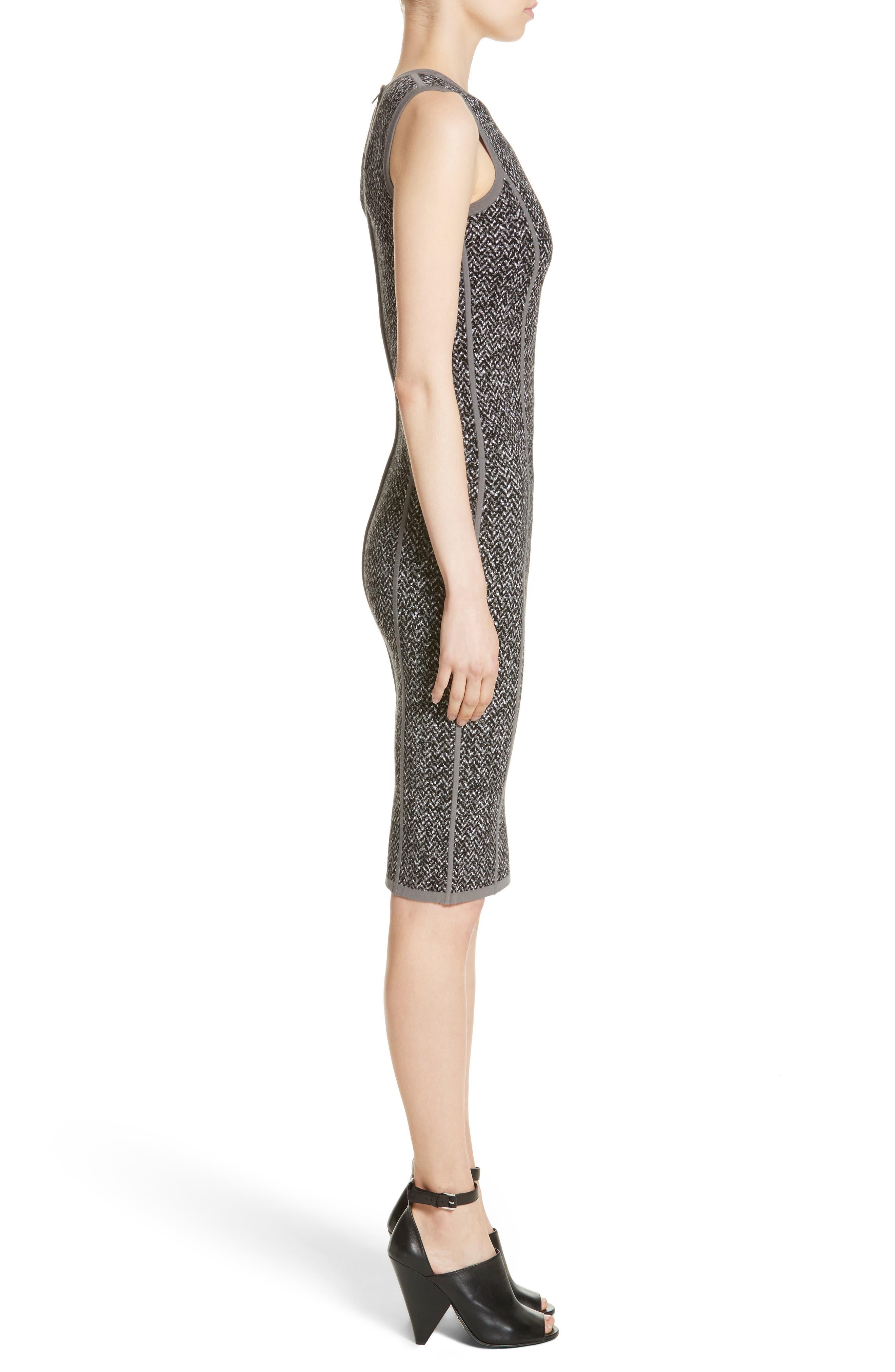 Alternate Image 3  - Michael Kors Stretch Tweed Jacquard Sheath Dress