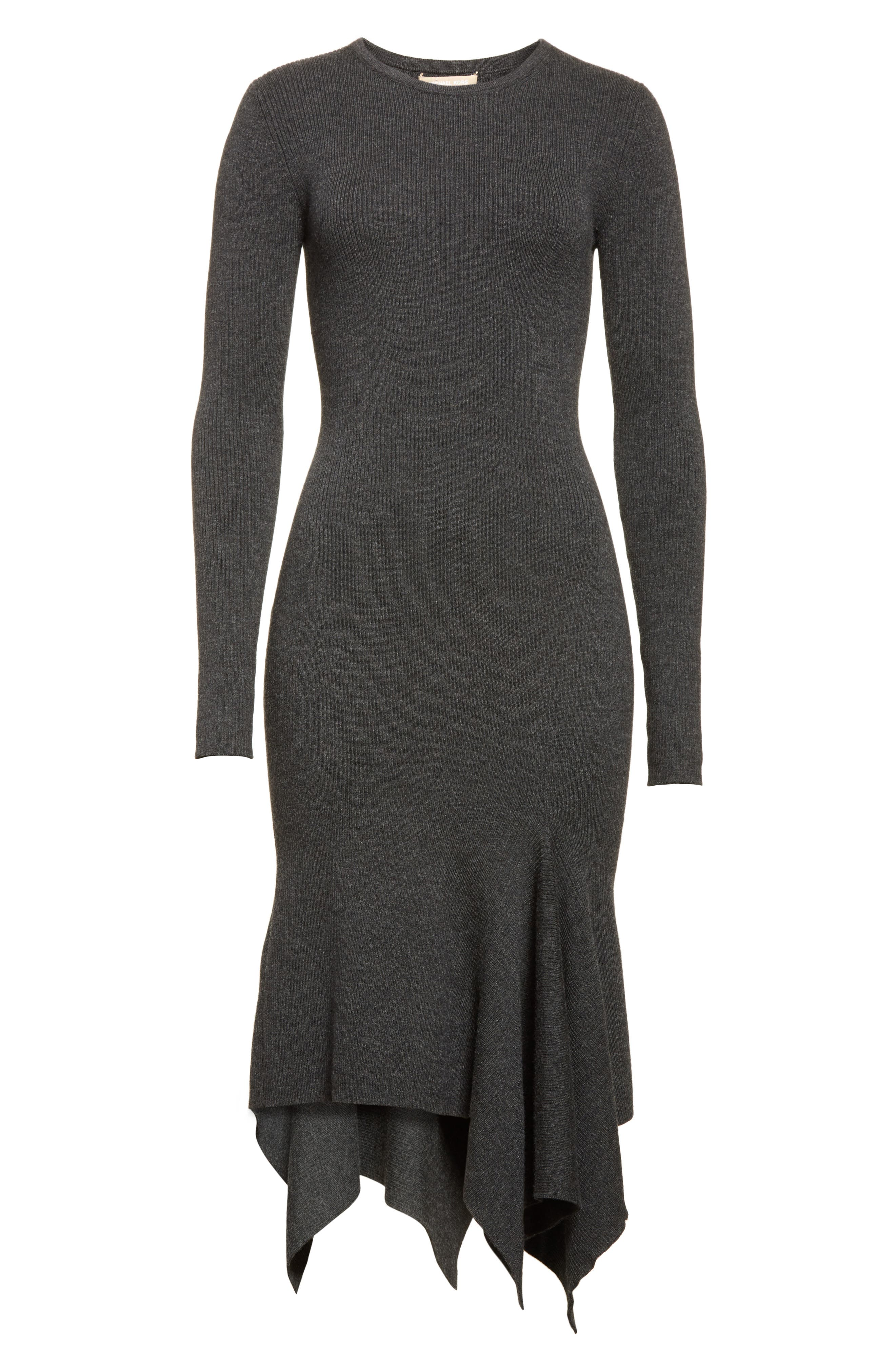 Alternate Image 6  - Michael Kors Merino Wool Blend Handkerchief Hem Dress