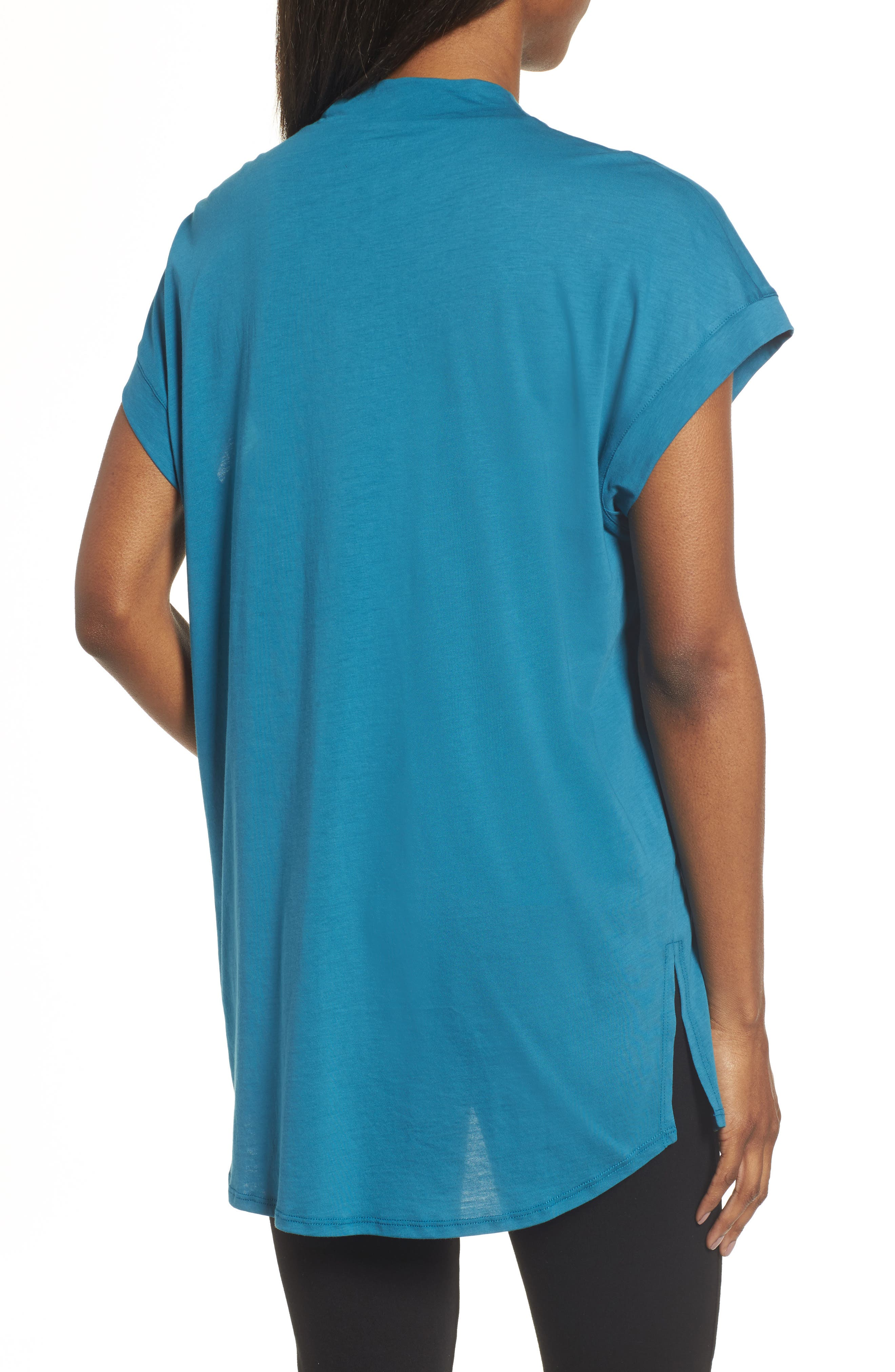 Slub Organic Cotton Top,                             Alternate thumbnail 2, color,                             Nile