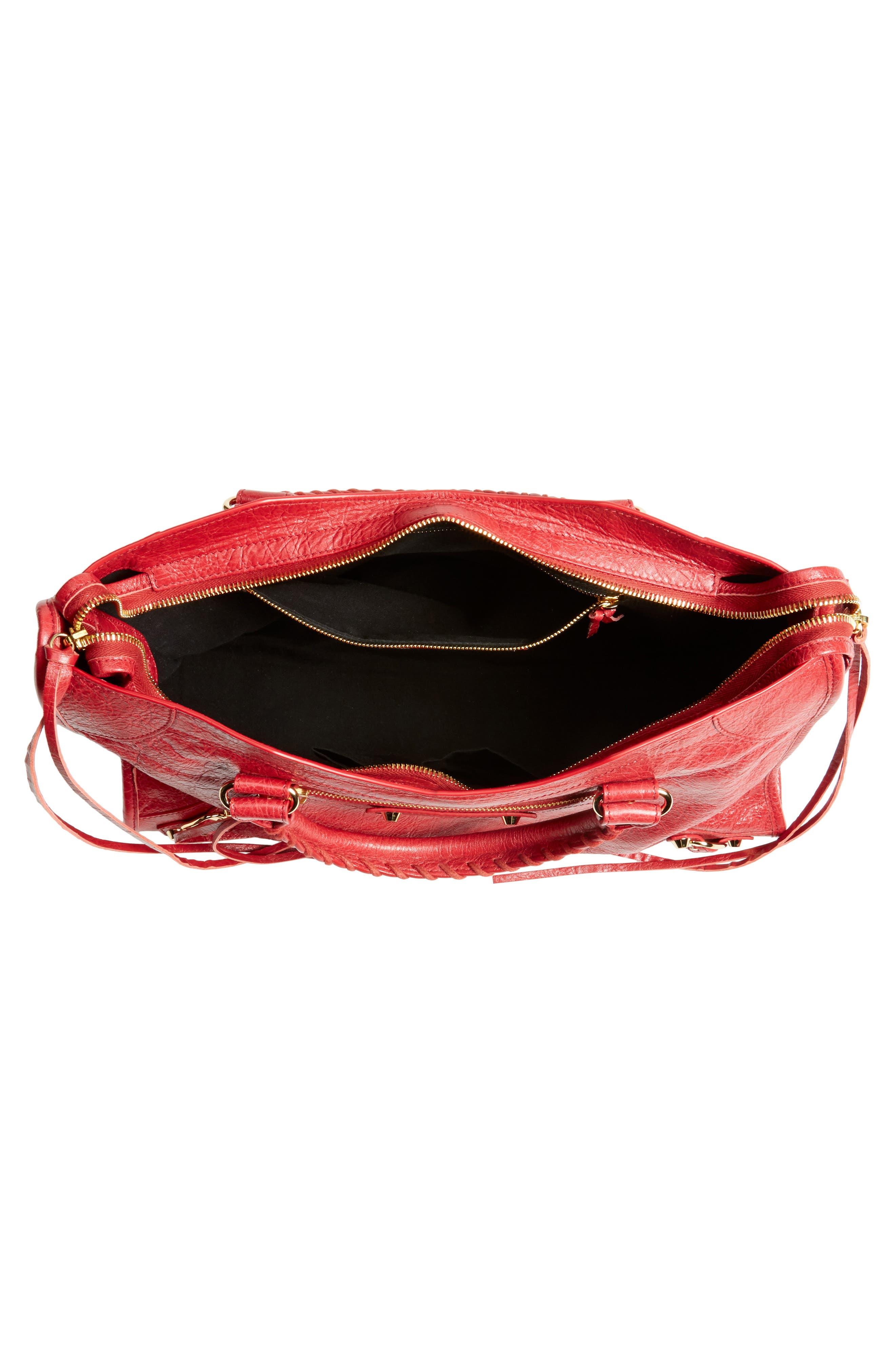 Classic City Bag,                             Alternate thumbnail 4, color,                             6270 Rouge Saffron/Dk Sang