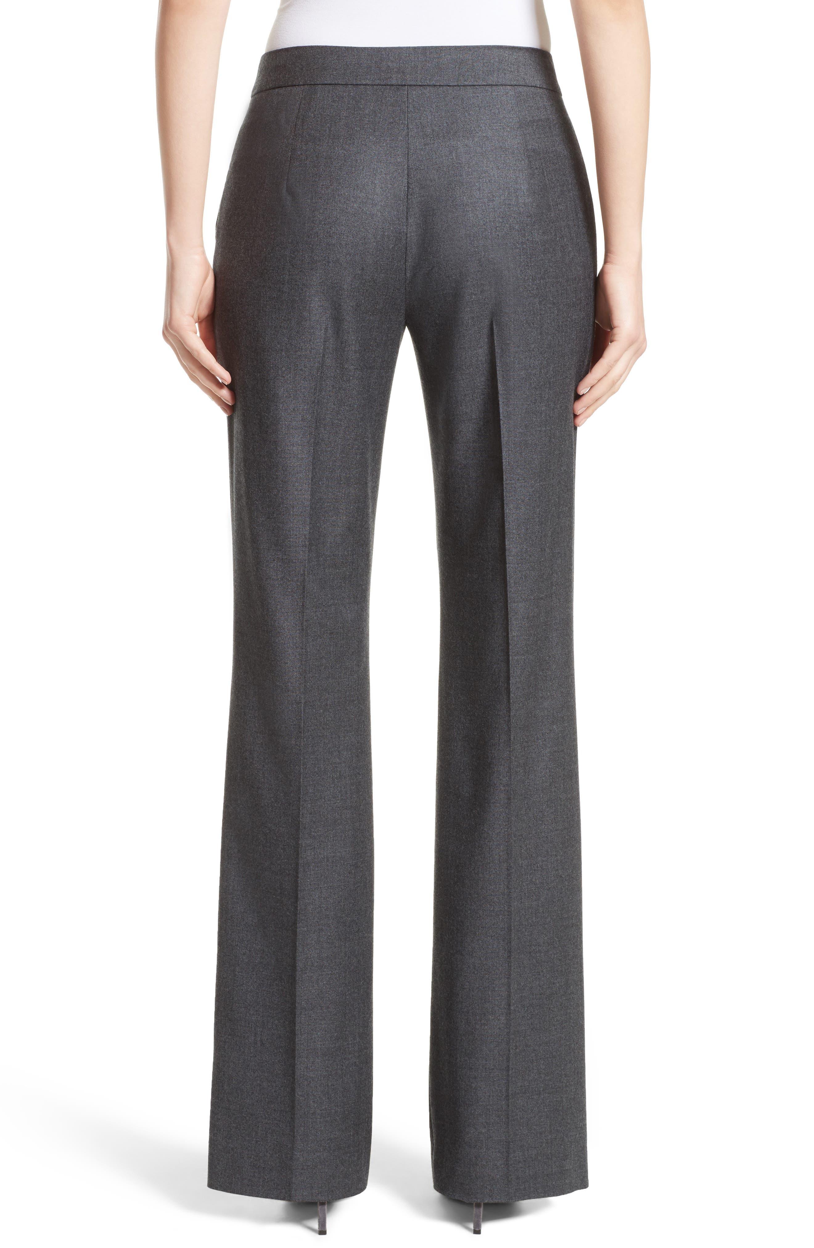 Pedone Wool Pants,                             Alternate thumbnail 3, color,                             Dark Grey